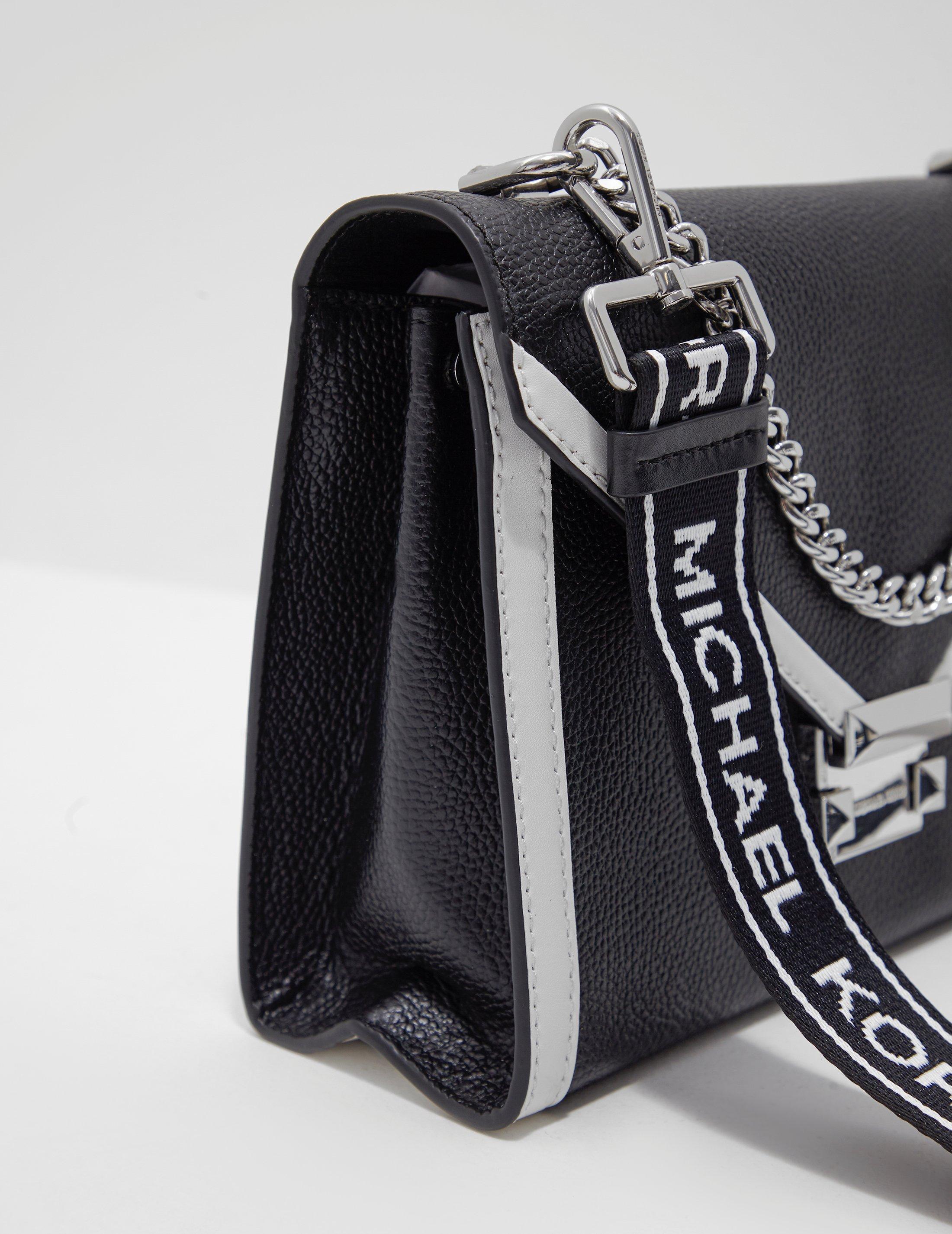 8498ef16c4de Michael Kors - Whitney Tape Shoulder Bag Black - Lyst. View fullscreen