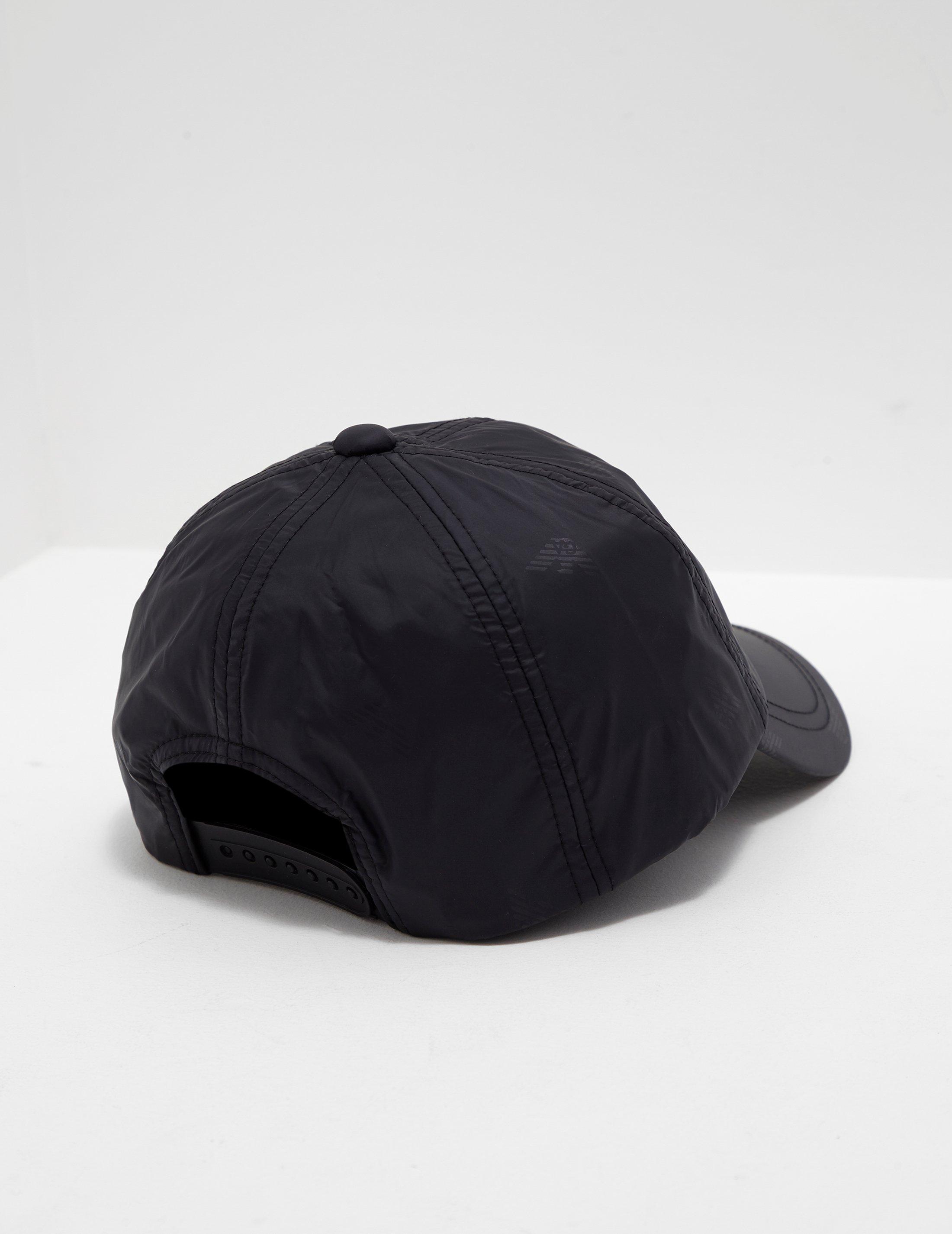 28ec7c3bc74 Lyst - Emporio Armani Mens Eagle Cap Black in Black for Men