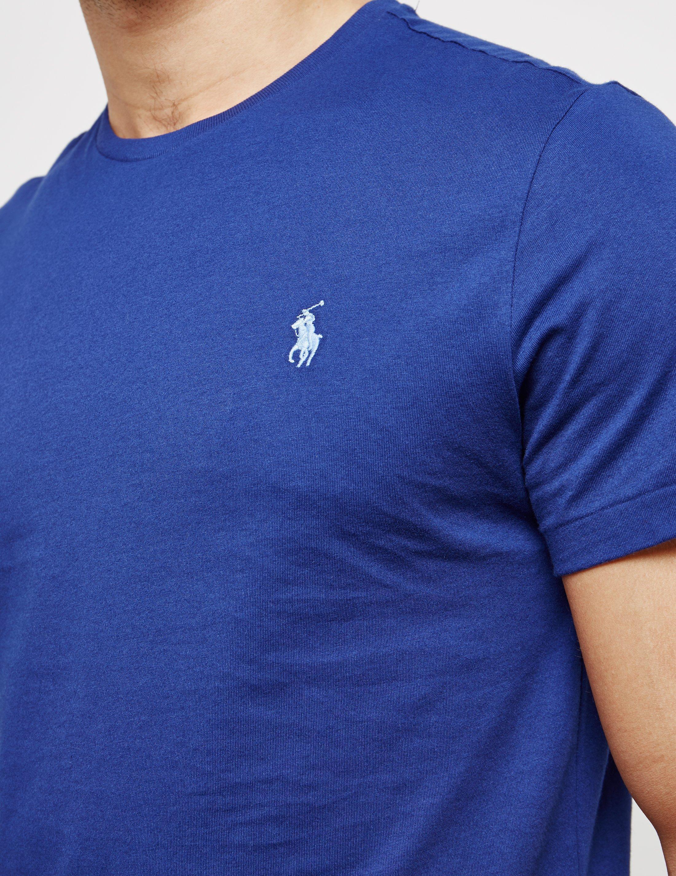 Ralph Lauren Men Blue Madrid Short Sleeved Polo
