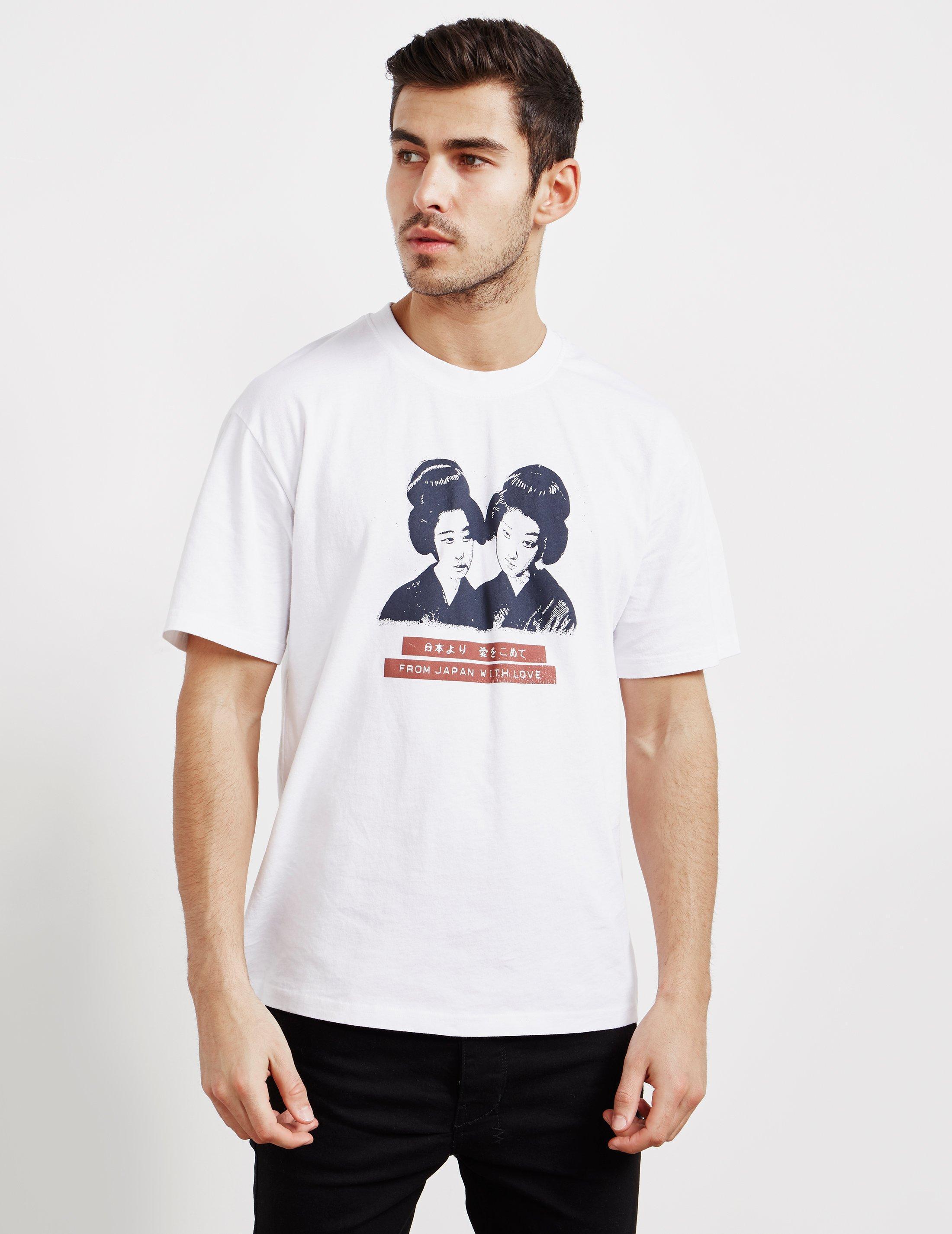 a46f9e7e Lyst - Edwin Mens Geisha Short Sleeve T-shirt White in White for Men