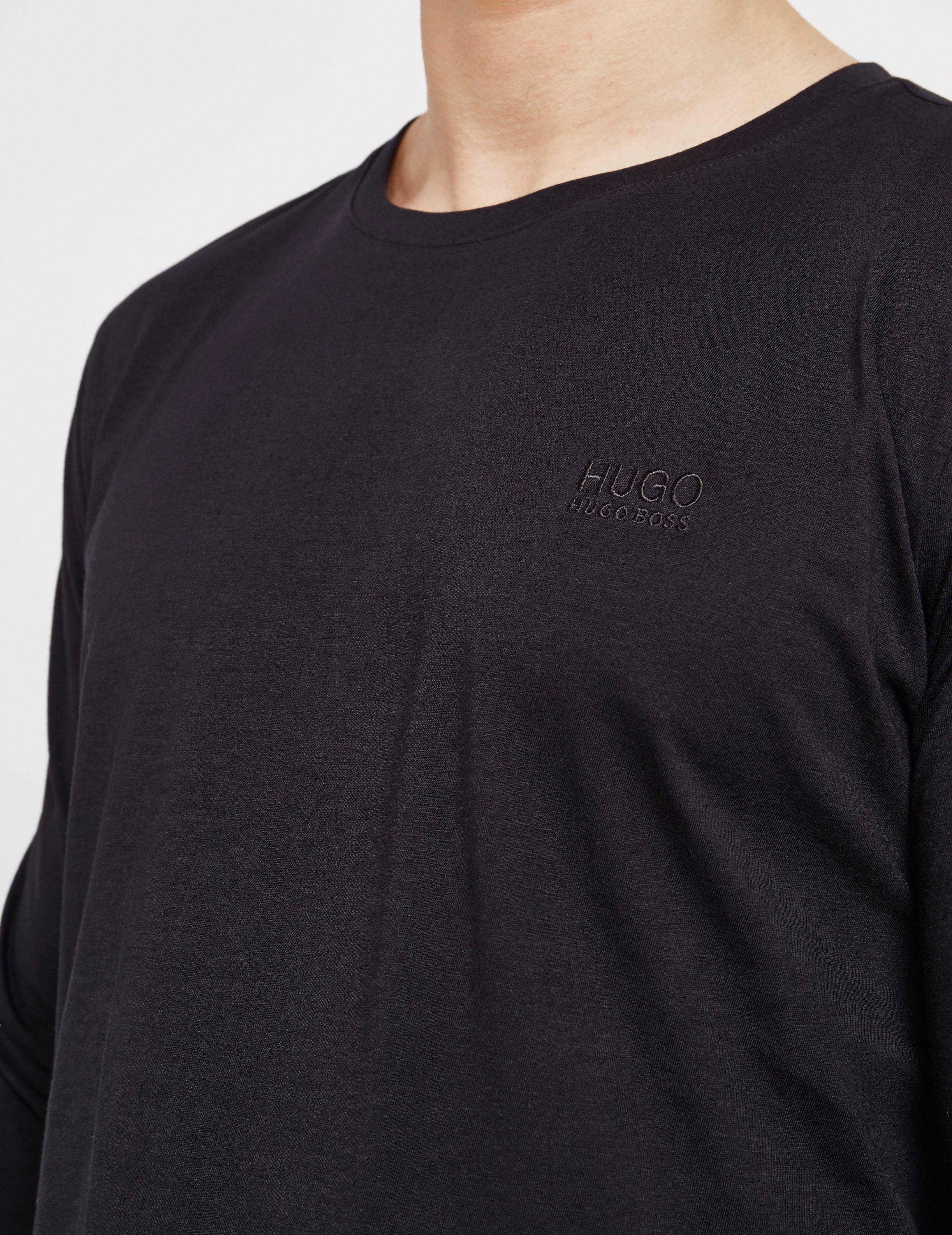 e74ed5e1a HUGO Derol Long Sleeve T-shirt Black in Black for Men - Lyst