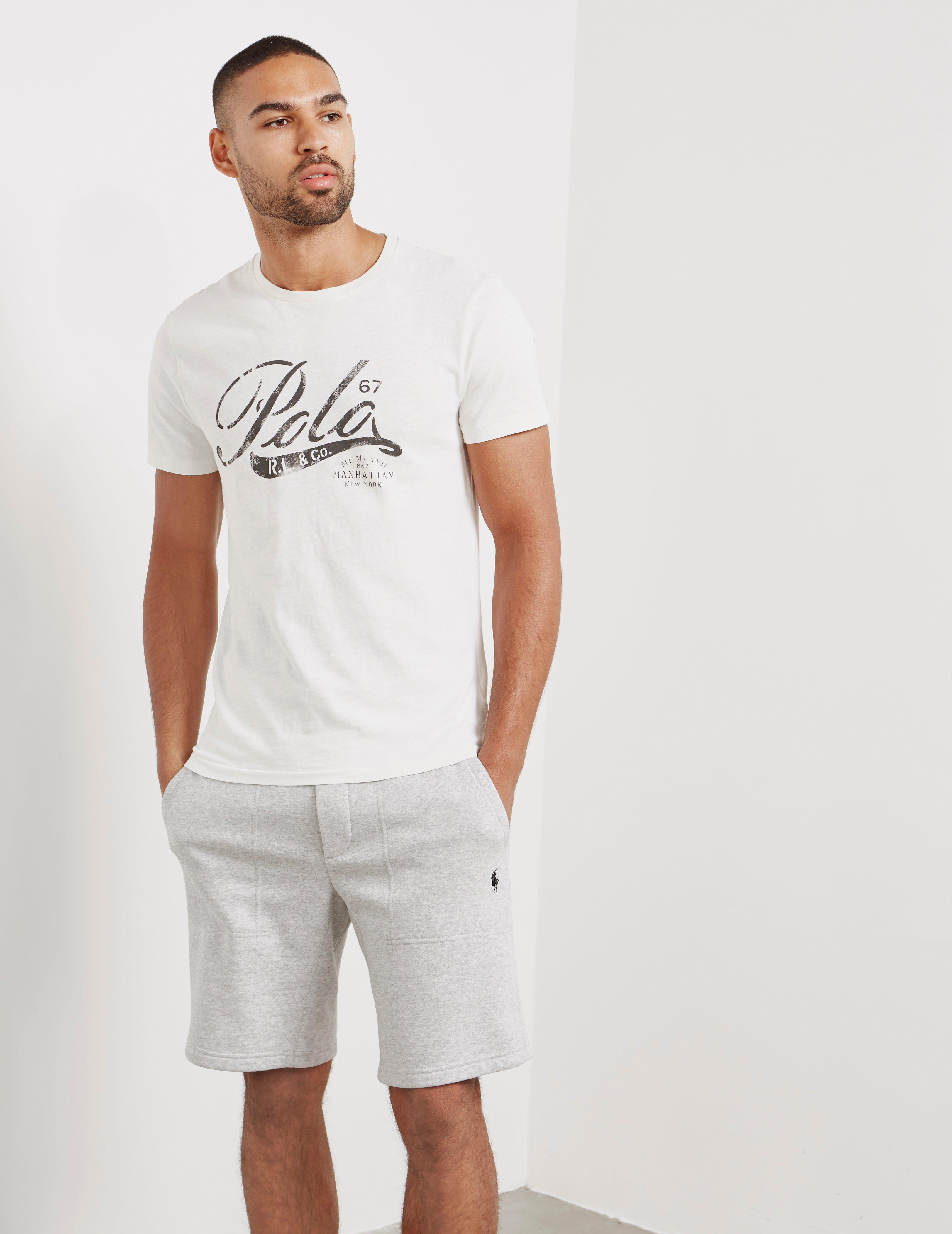 2beed5f9 Lyst - Polo Ralph Lauren Mens Graphic Short Sleeve T-shirt White in ...
