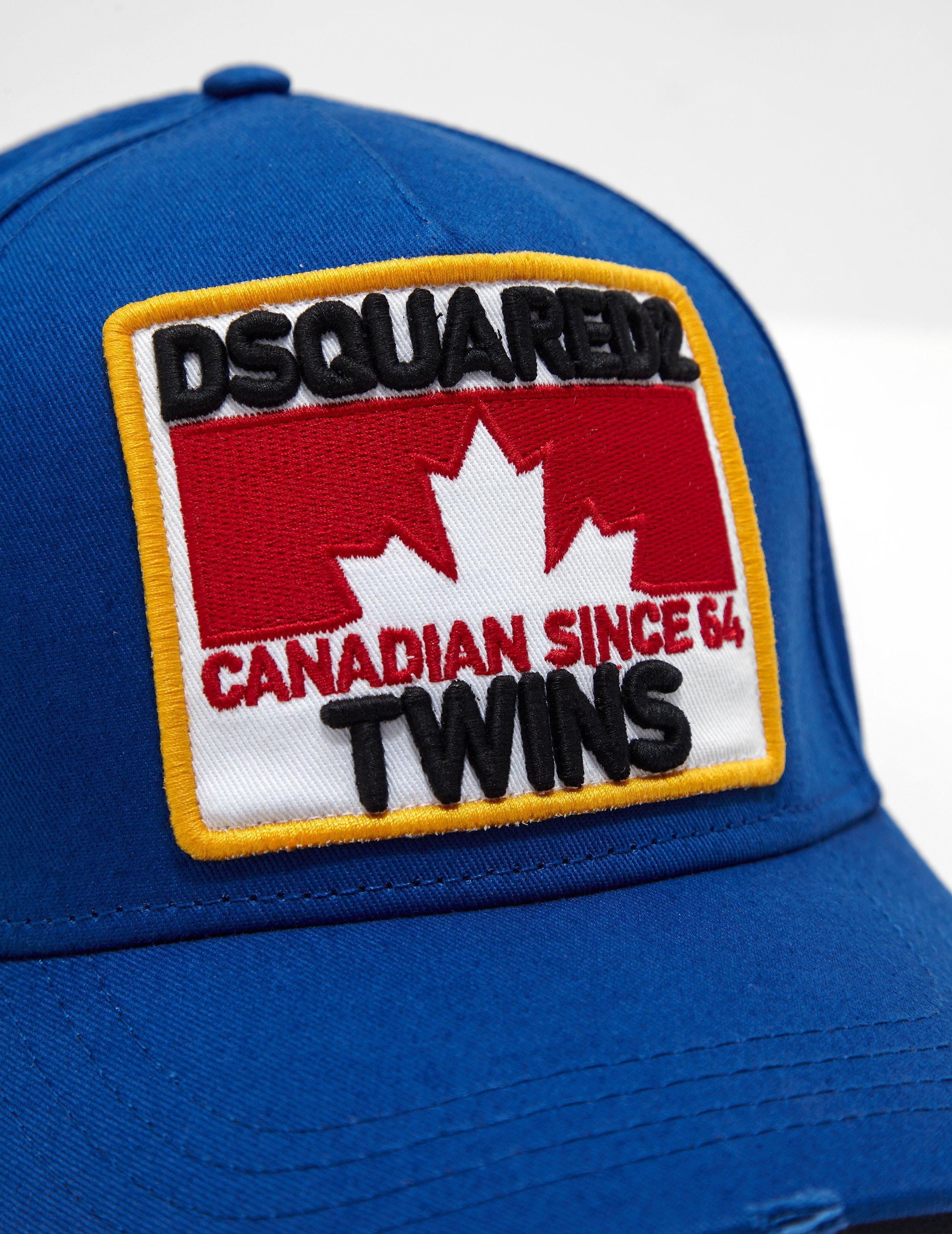 Lyst - Dsquared² Mens Maple Square Cap Blue in Blue for Men 528767521b18
