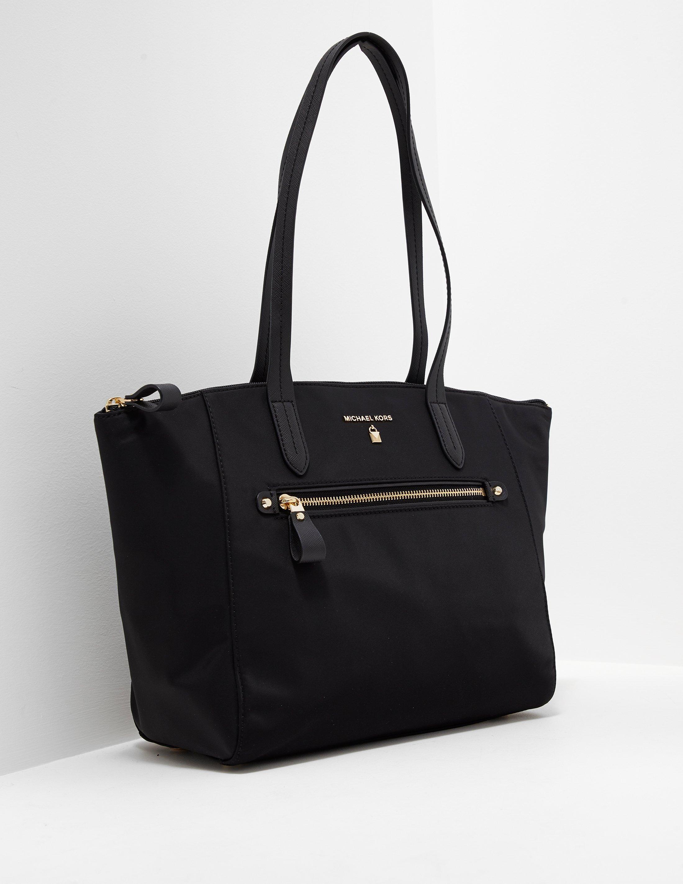 0c7f8cd4f2e Lyst - Michael Kors Nylon Kelsey Tote Bag Black in Black - Save 3%