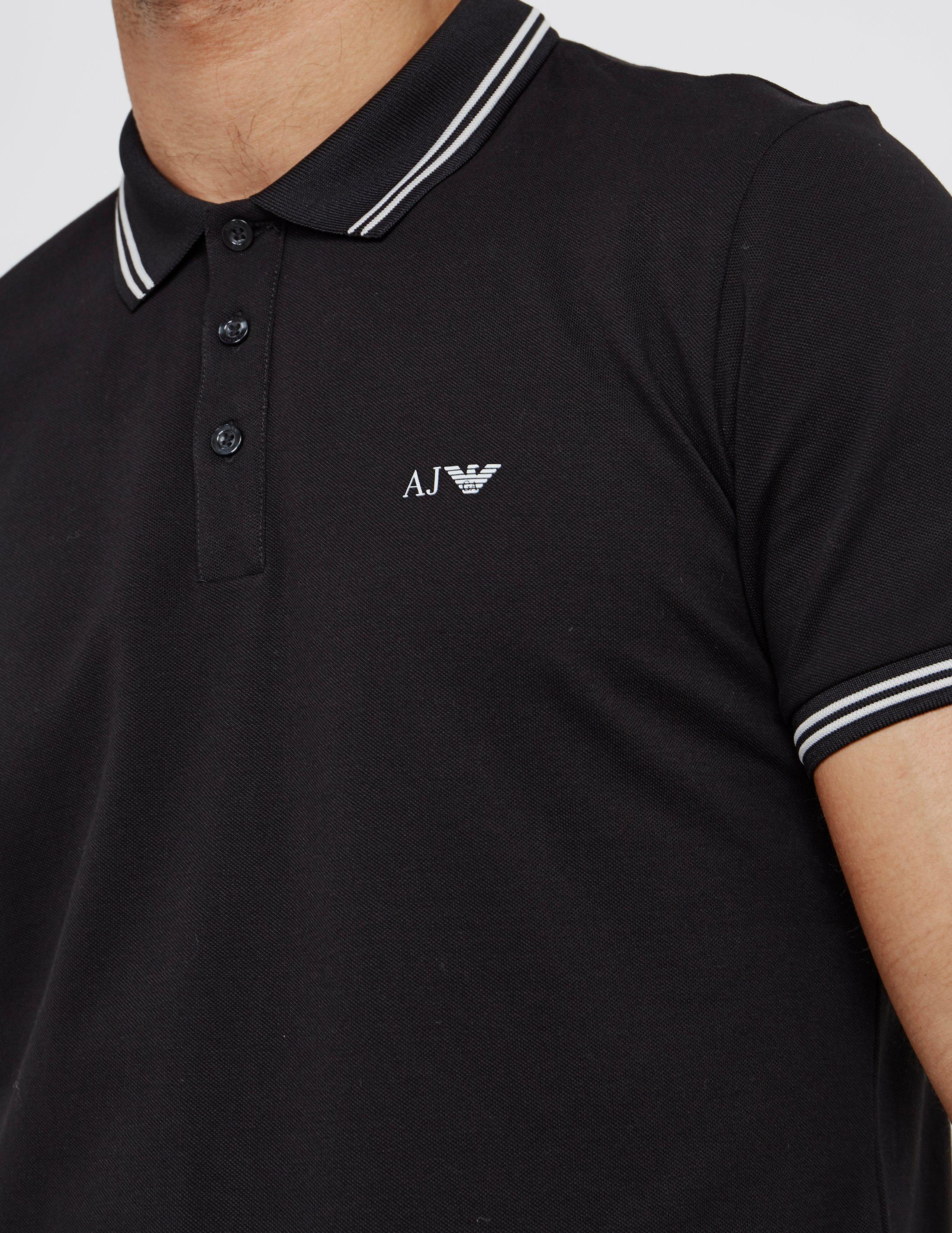 Lyst Armani Jeans Mens Twin Tipped Short Sleeve Polo Shirt Black