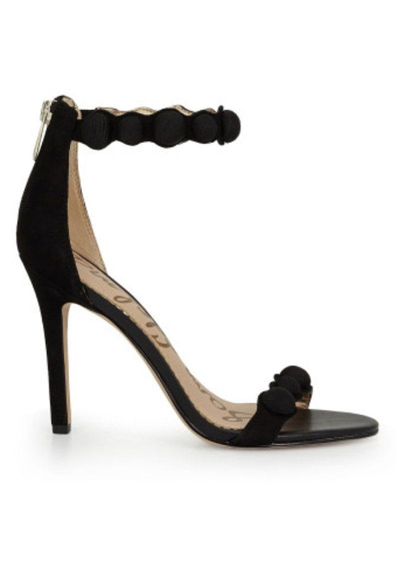 afcc4940f2e Lyst - Sam Edelman Addison Ankle Strap Suede Heels in Black