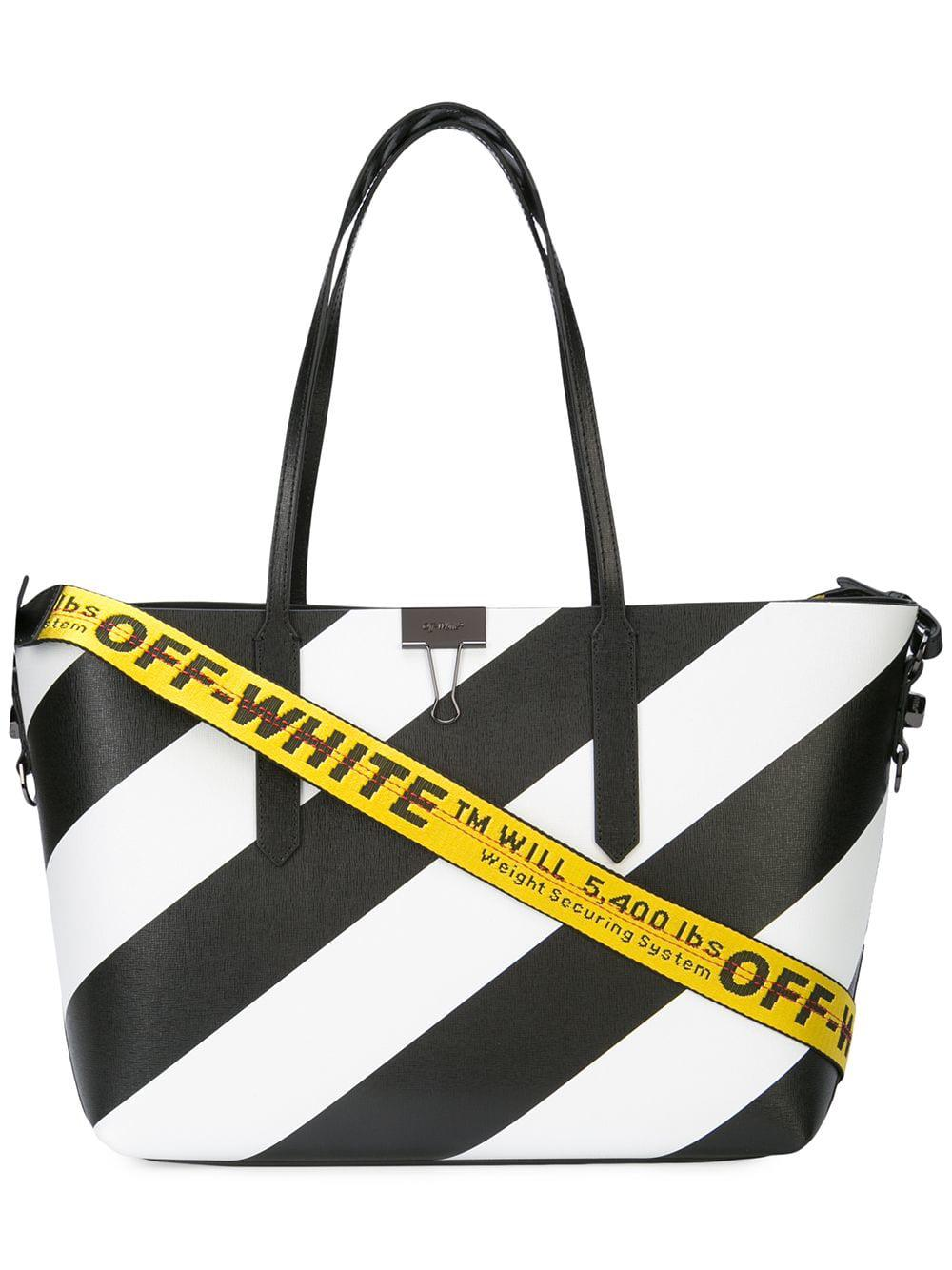 ea7b450813c0 Lyst - Off-White c o Virgil Abloh Black And White Tote Bag in Black