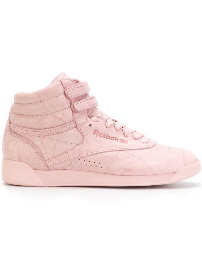 ea139f43f8a Lyst - Reebok Freestyle Hi Fbt Sneakers in Pink