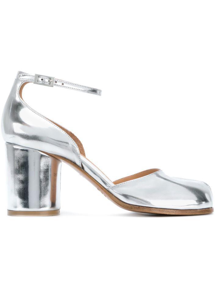 c043656a8ba9 Lyst - Maison Margiela Tabi Ankle Strap Pumps in White