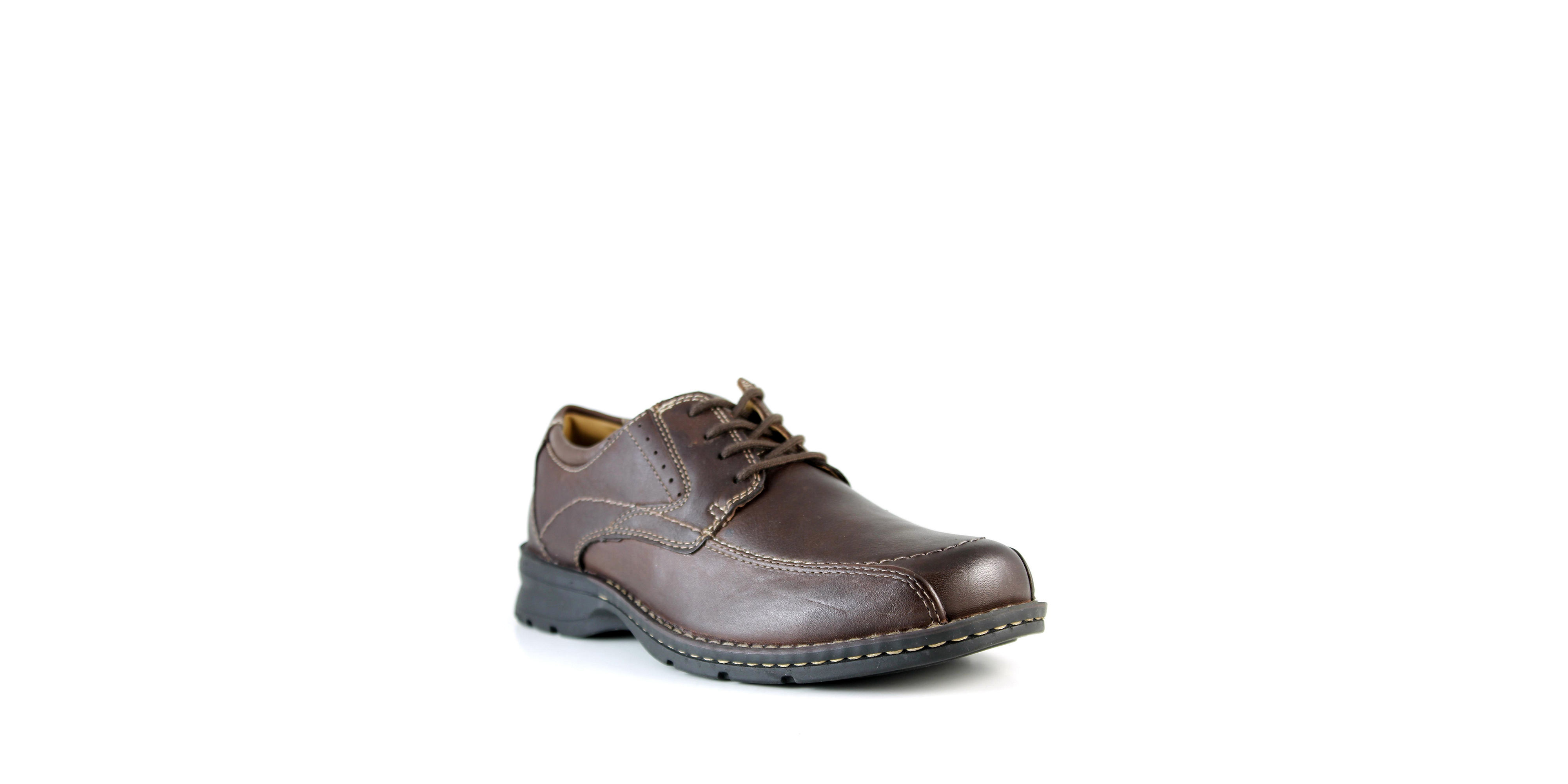 dockers endow leather dress shoes in black for lyst