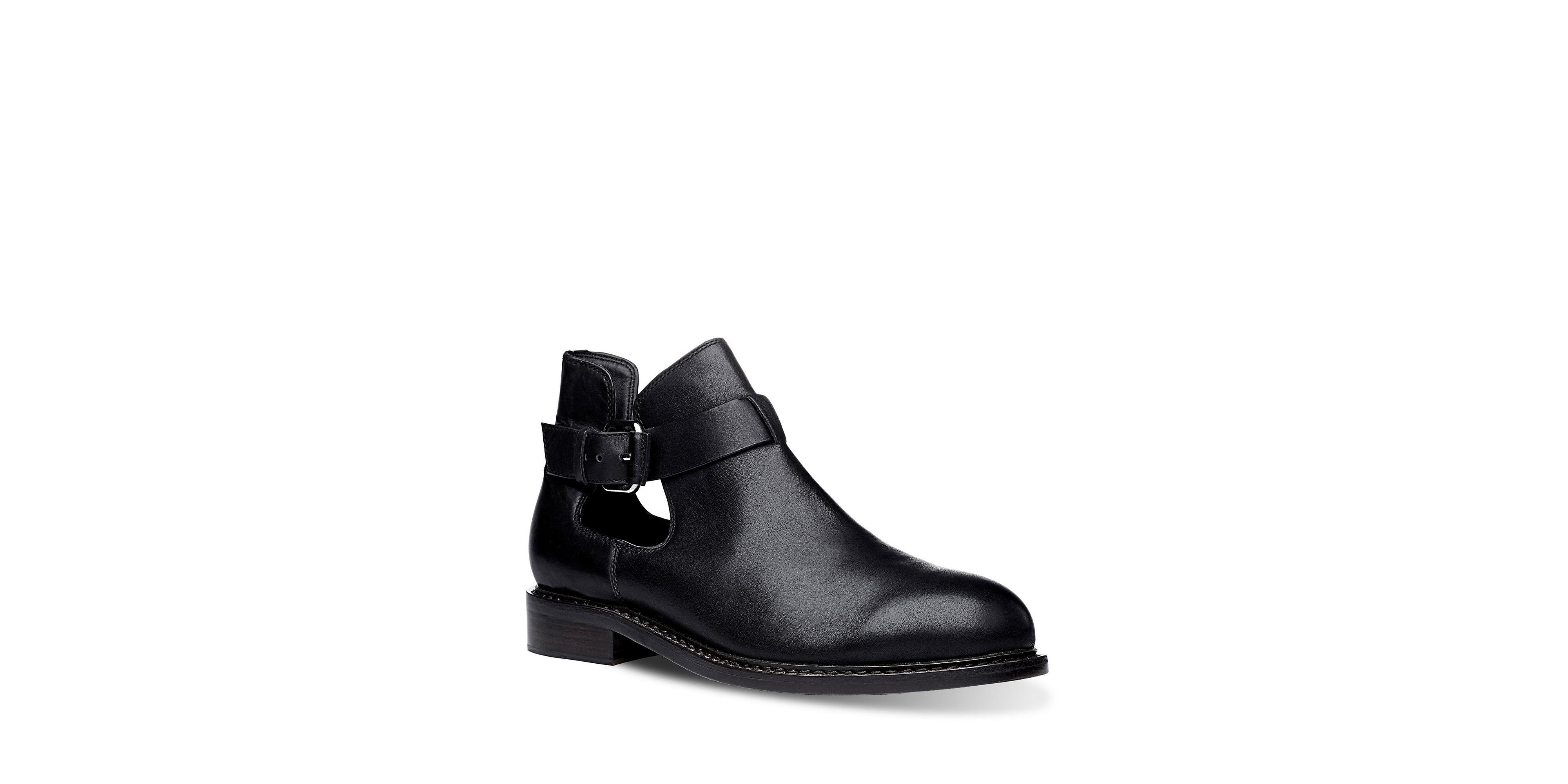 liebeskind leather short booties in black lyst. Black Bedroom Furniture Sets. Home Design Ideas