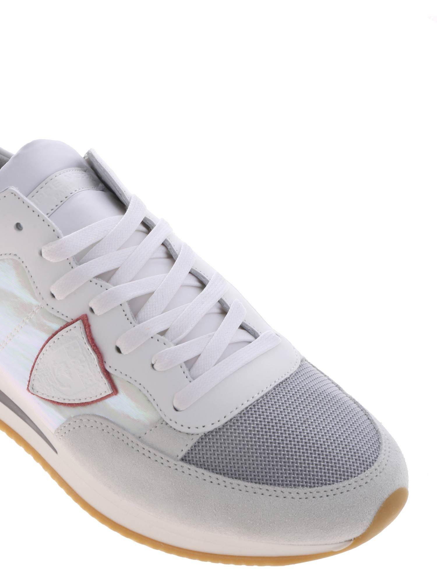 7652f16af Lyst - Philippe Model Tropez Sneakers In White And Pink in White