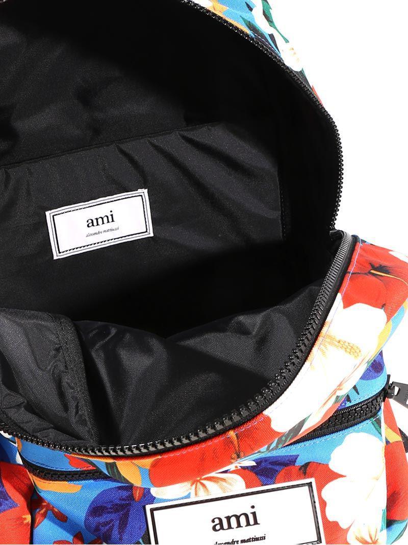 Hawaiian pattern backpack Ami ob3FClk