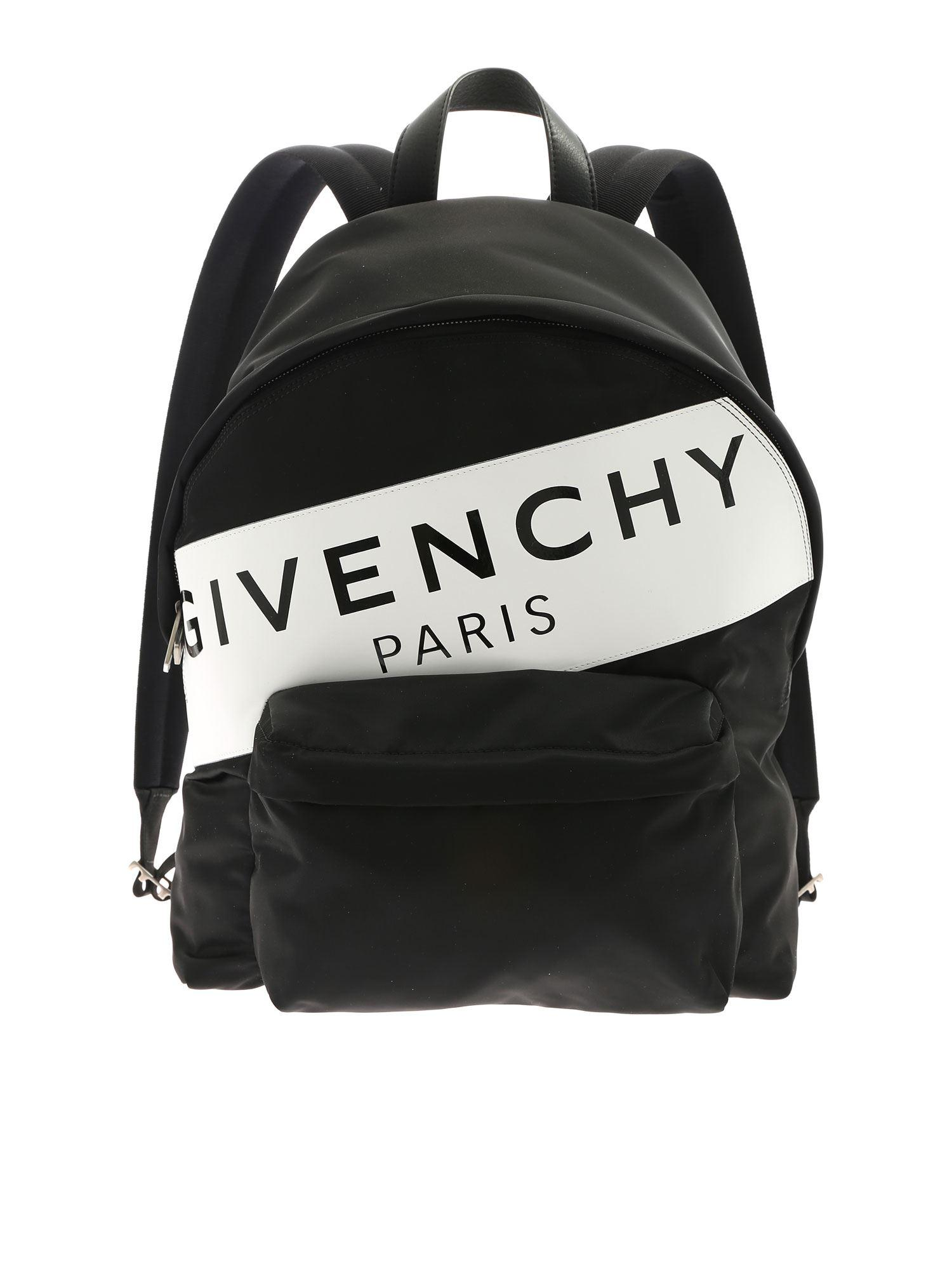 f96df24761d1 Givenchy - Urban Backpack With White And Black Print for Men - Lyst. View  fullscreen