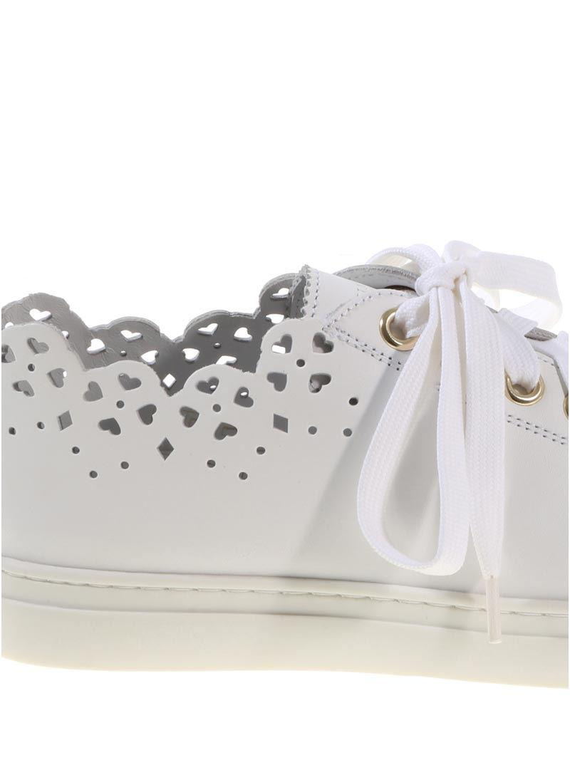 White sneakers with lasered geometric details Twin-Set x4UALSqX