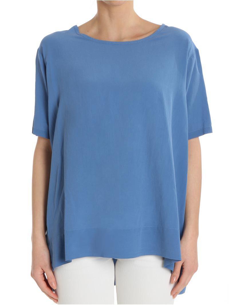 Light blue silk top ottod´Ame Brand New Unisex For Sale yF9lF1