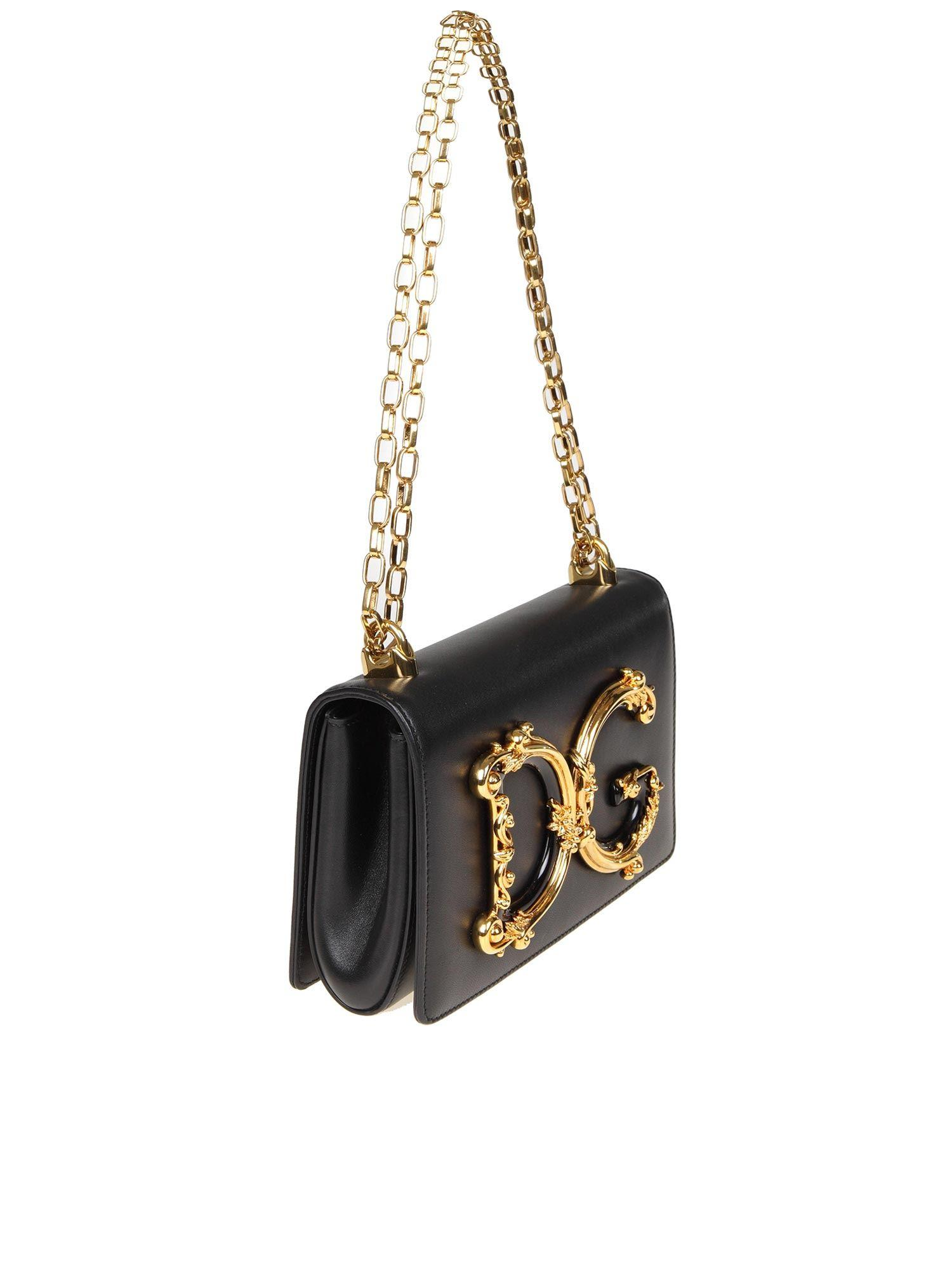 efeea730c0e6 Lyst - Dolce   Gabbana Black D g Bag With Baroque Logo in Black