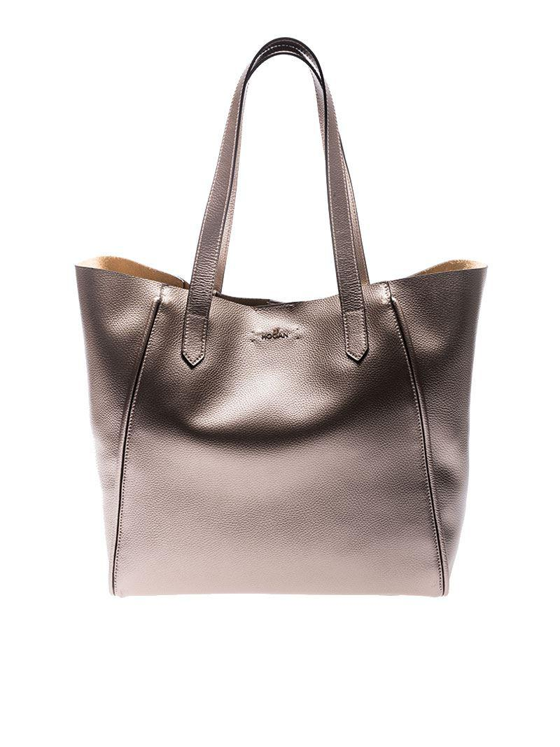 Hogan Copper-colored leather bag zHqflK