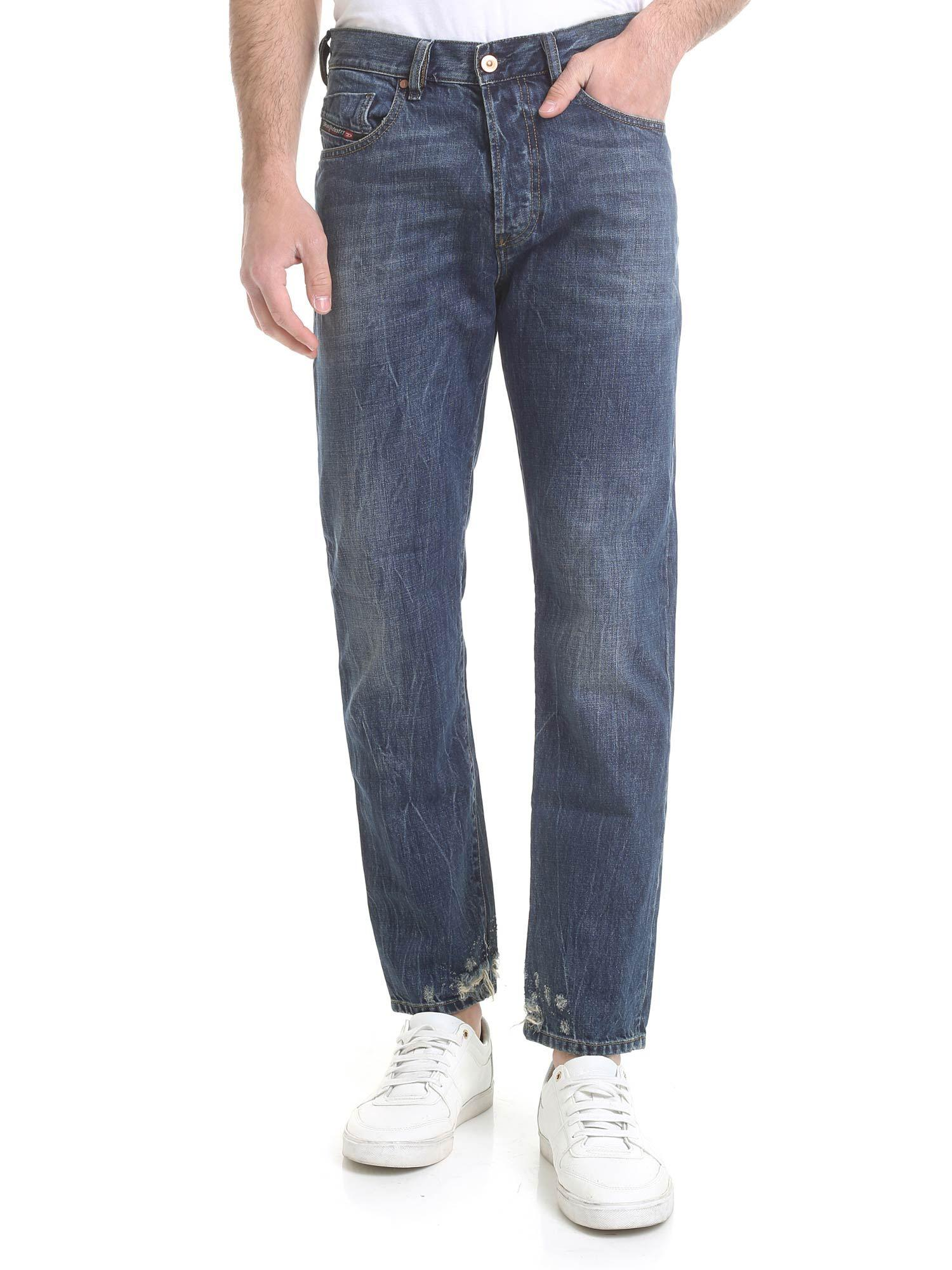 05b91c73 Lyst - DIESEL Mharky Jeans Vintage Effect In Blue in Blue for Men