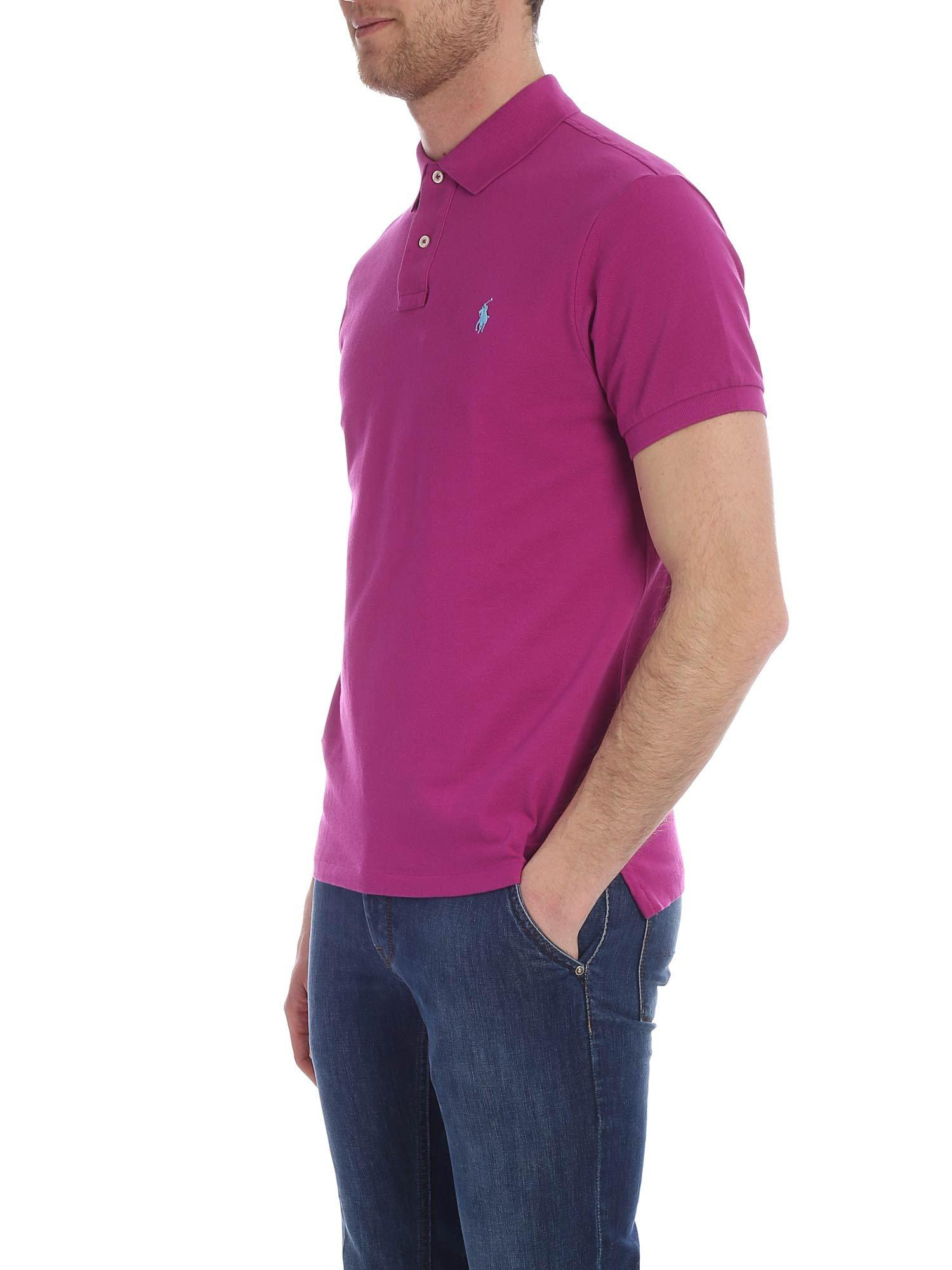 ddc67a0c Lyst - Polo Ralph Lauren Red Slim Fit Polo Shirt in Red for Men