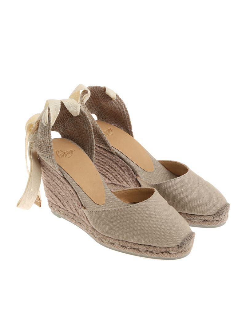 c44e28ad7b58 Castaner Dove Grey Carina C Wedge Espadrilles in Gray - Lyst
