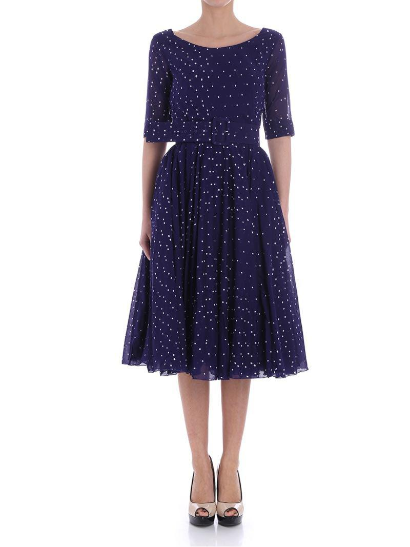 Fuchsia dress with white polka dots Samantha Sung Buy Cheap The Cheapest Low Price For Sale 100% Guaranteed For Sale Clearance Best Place Sale 2018 New hhFFis