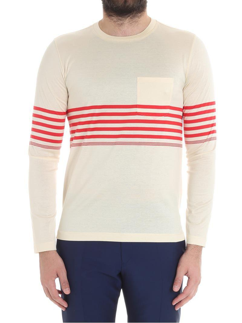 Lyst - Paul Smith Cream-colored Sweater With A Pocket for Men 07d4b04bd