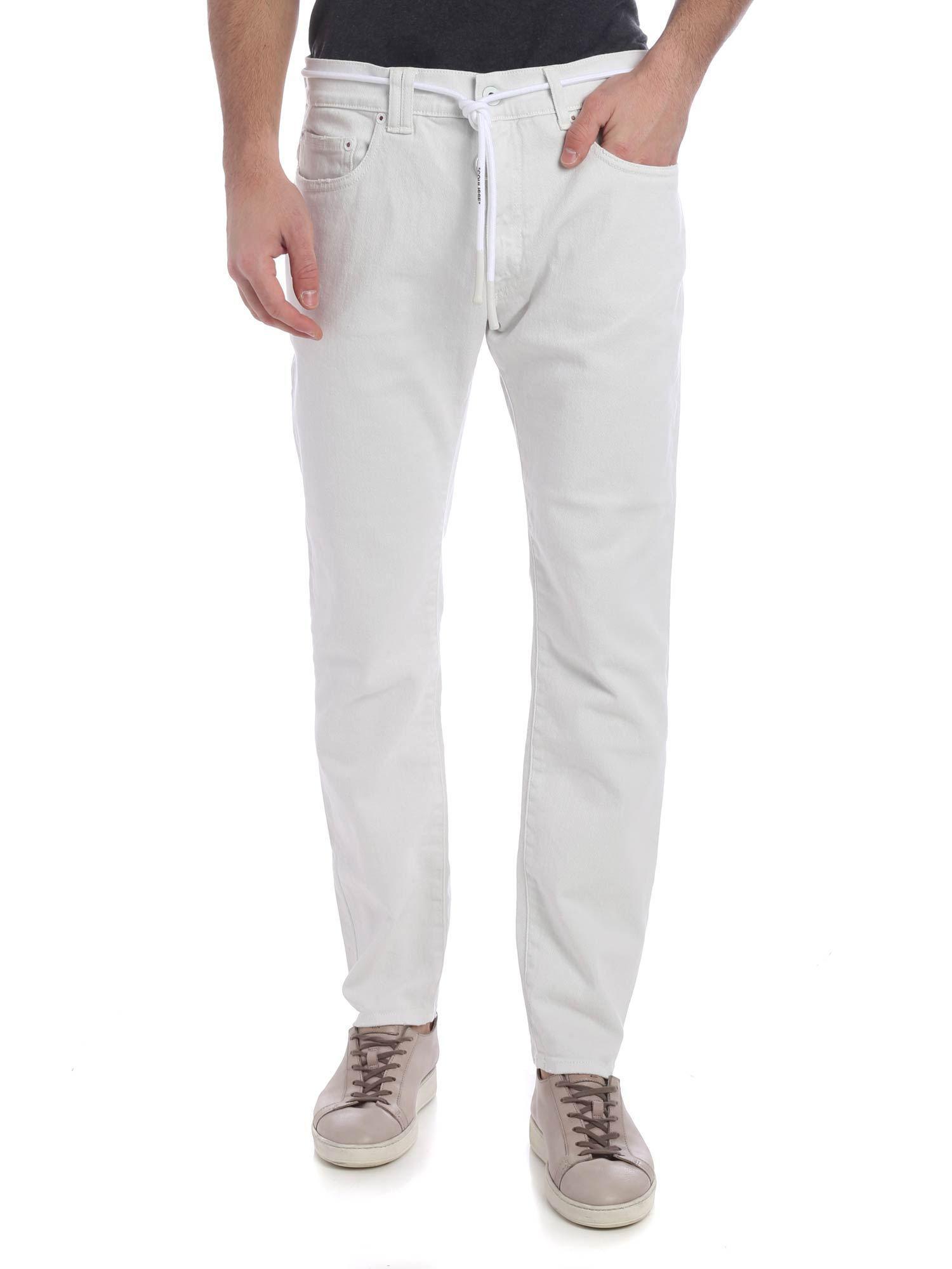 70a0e411e8c Lyst - Off-White c o Virgil Abloh 5 Pocket White Off White Jeans in ...