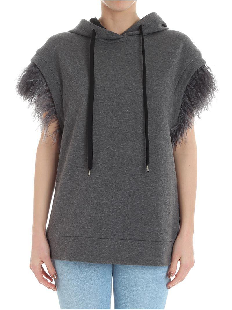 Cheap Sale Best Store To Get Largest Supplier Online Gray sweatshirt with feathers N°21 Cheap Prices Authentic Buy Cheap 2018 Newest Euf65