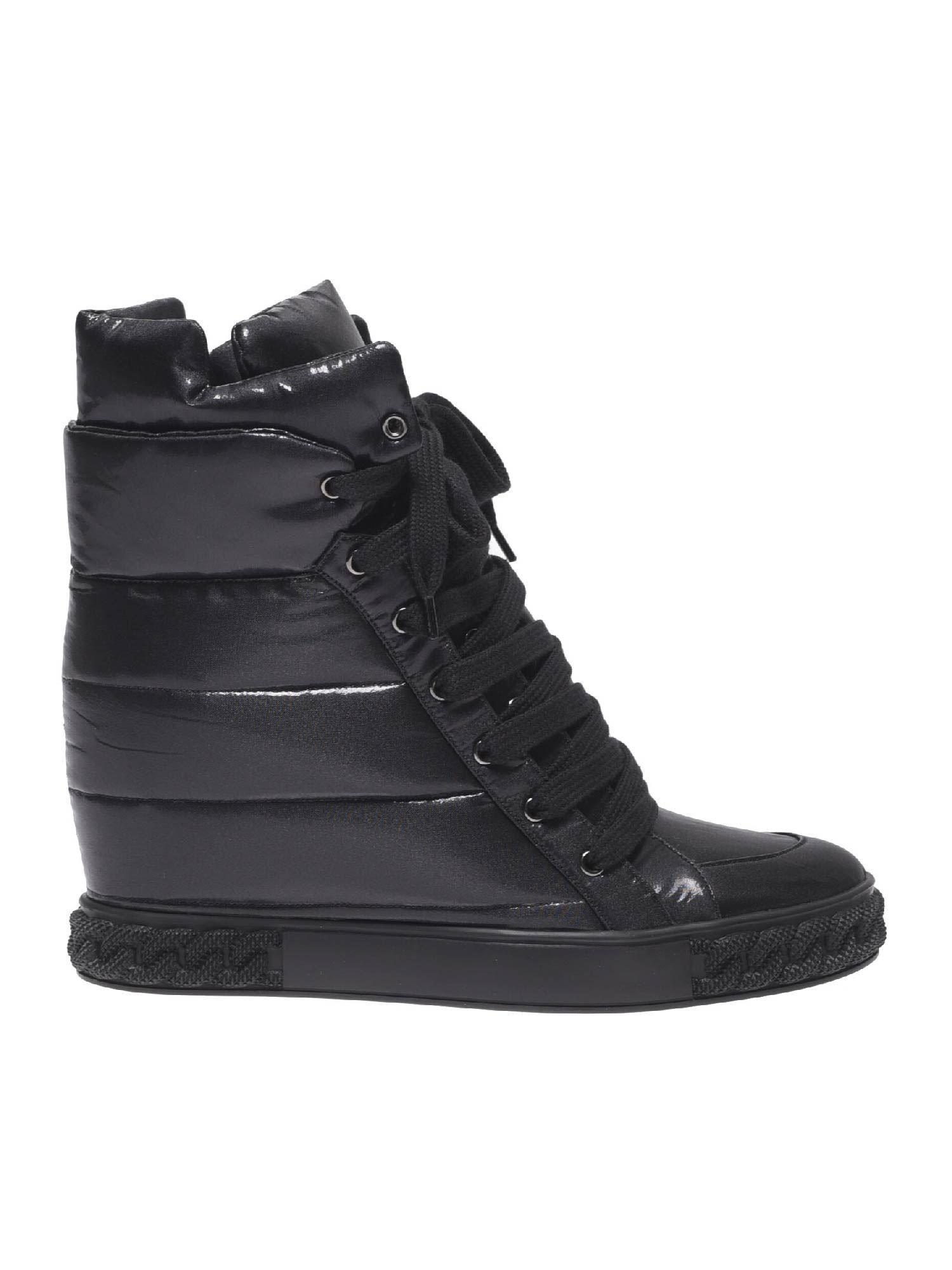 5c06f58df3a Casadei Black Sneaker With Inner Wedge in Black - Lyst