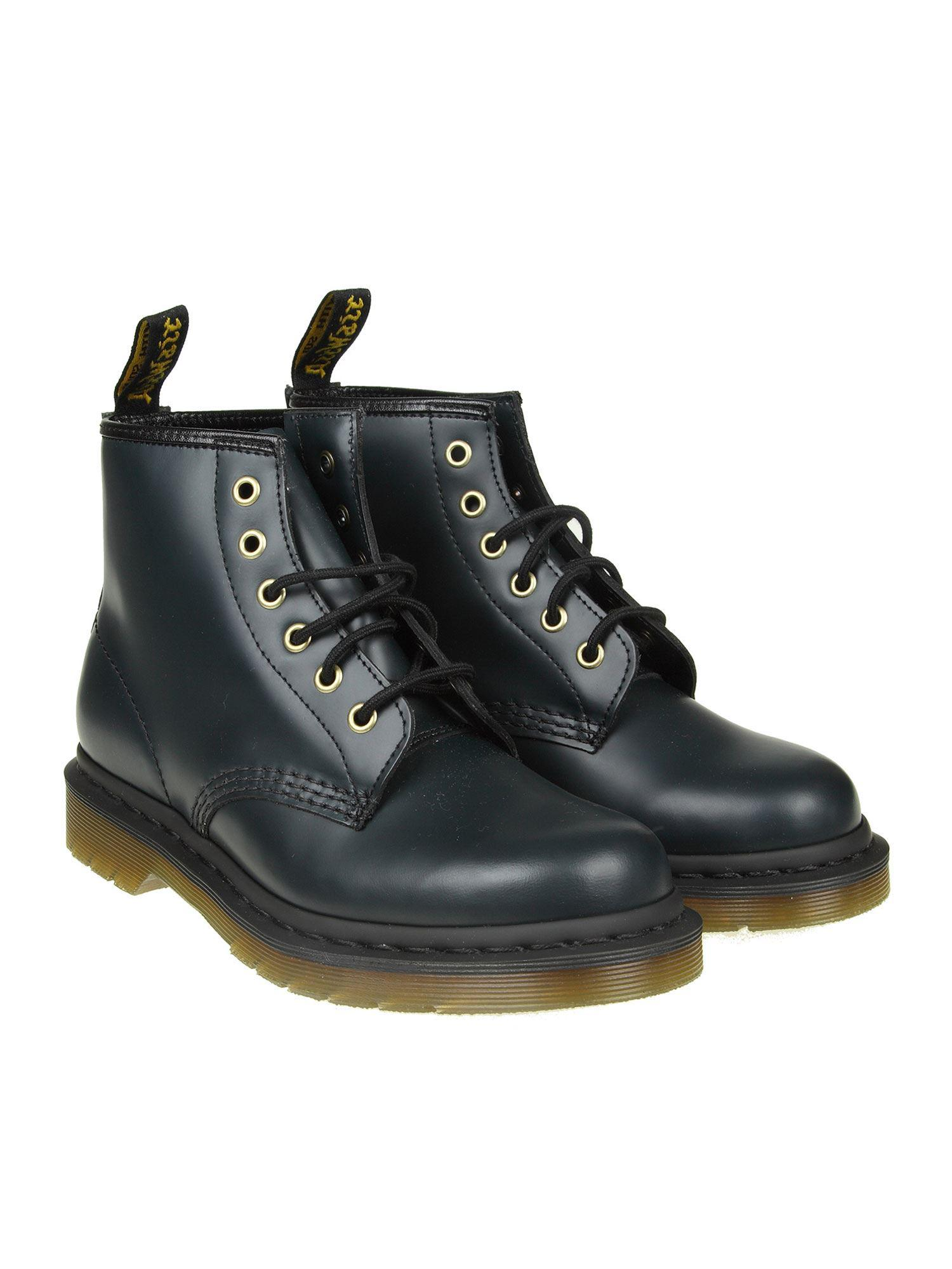 Dr. Martens - 101 Smooth Blue Navy Ankle Boots - Lyst. View fullscreen e13ce24fb392