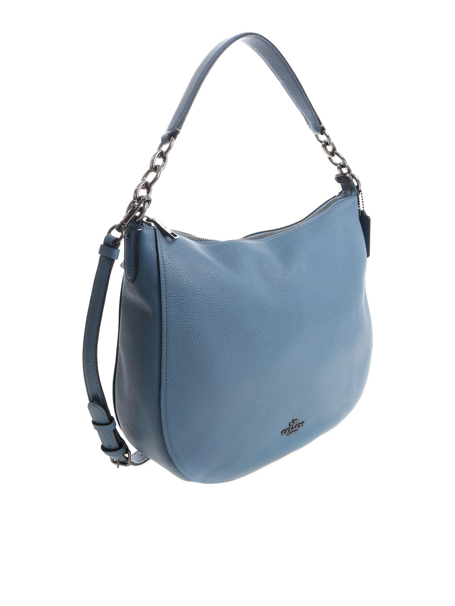 ef8f61688b11 COACH - Light Blue Cross-body Bag - Lyst. View fullscreen