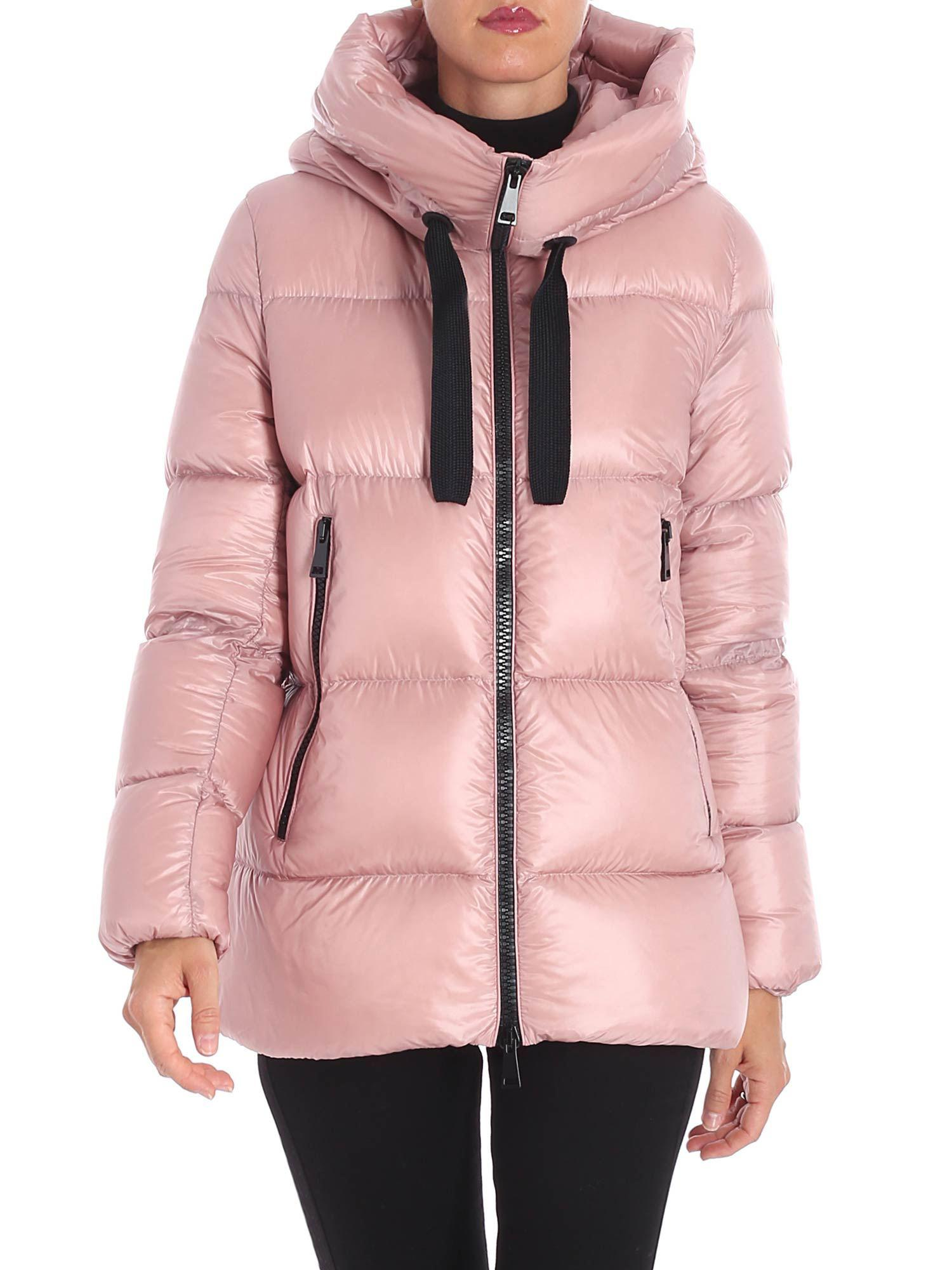 8a8439d27 Moncler Pink Serin Down Jacket in Pink - Lyst