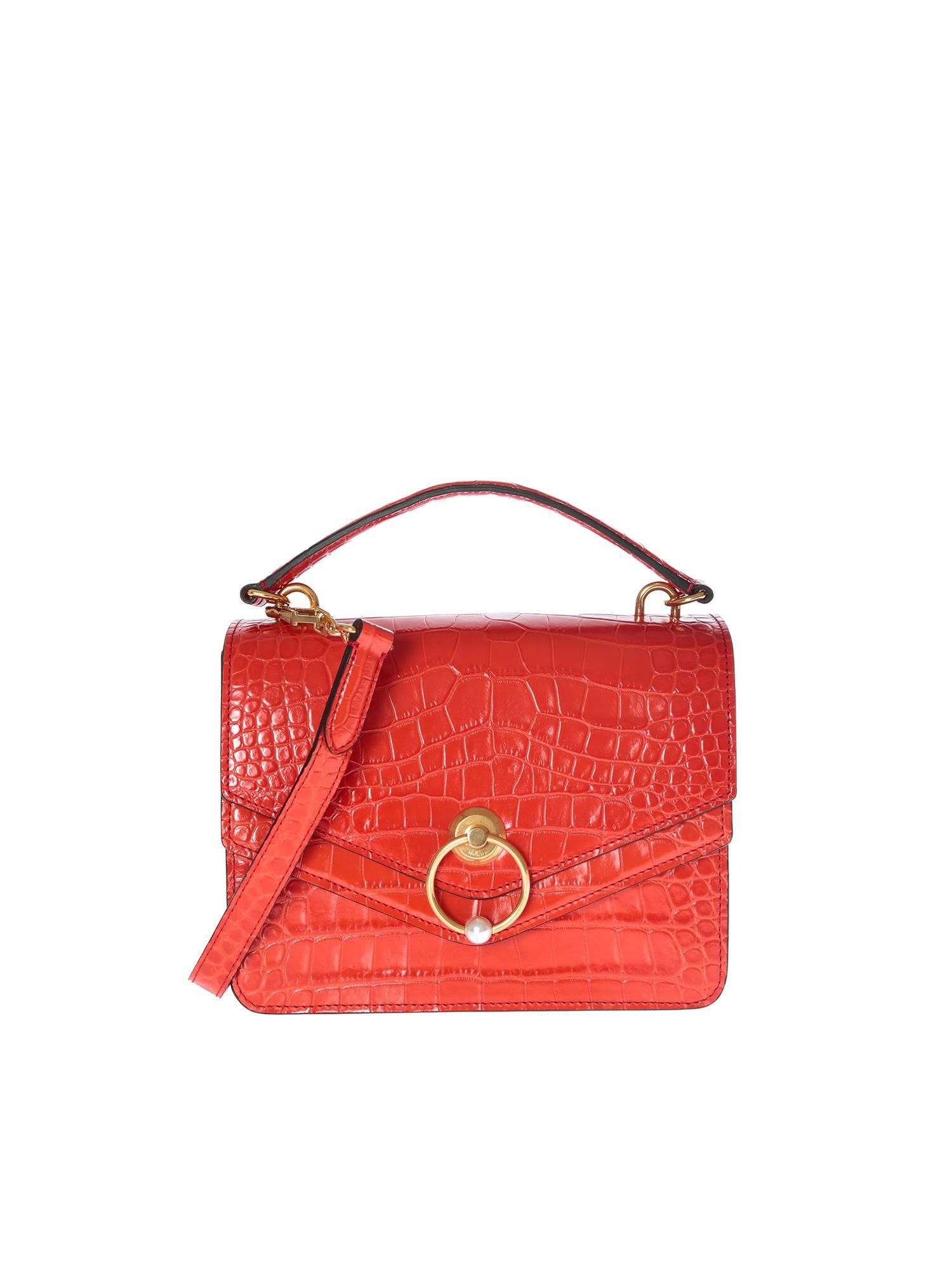 4b5eb4144c Mulberry Harlow Satchel Red Bag in Red - Lyst