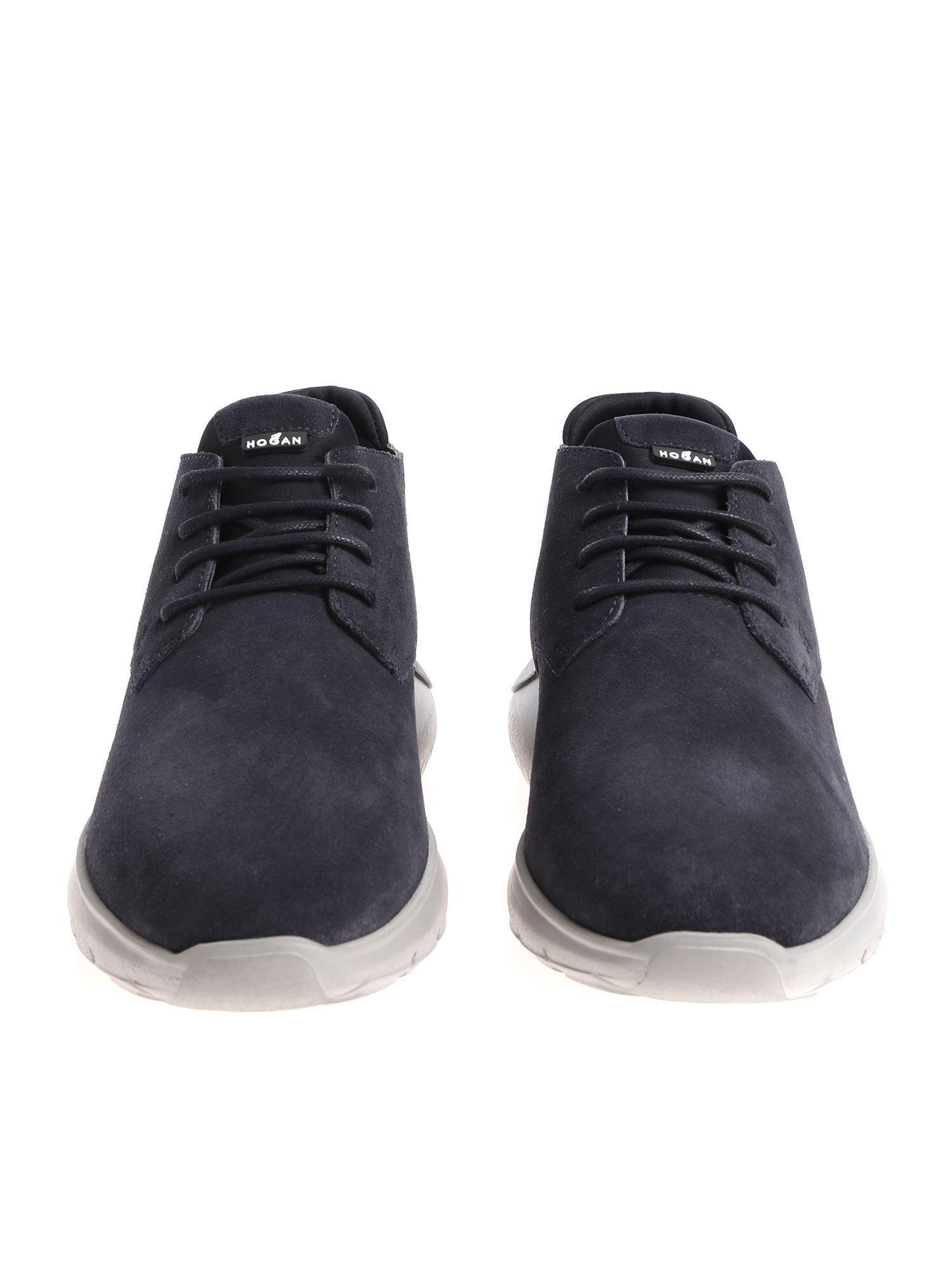 Lyst - Hogan Blue Interactive 3 Desert Boots in Blue for Men 58012f5ac27