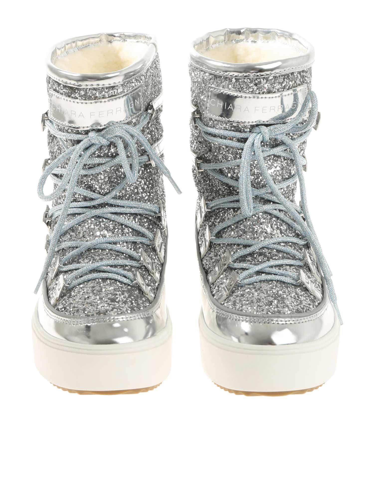 c45eea31ab23 ... Chiara Ferragni - Metallic Silver Moon Boots With Glitter - Lyst ·  Visit The Clutcher. Tap to visit site