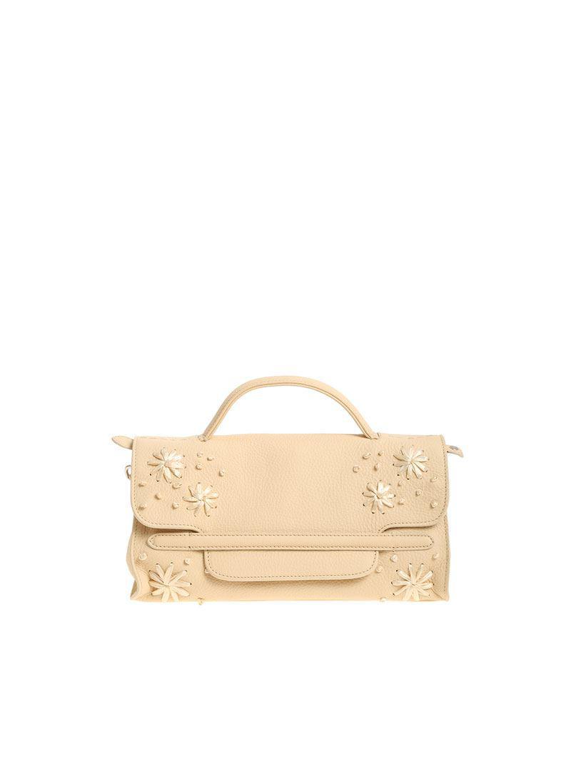 Zanellato Light gray Nina M bag - Pure Cashmere Line 1O5Hg