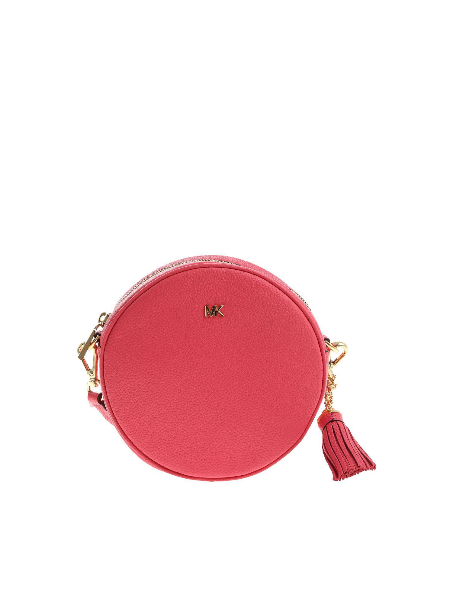e9cd8aaa7c40 Lyst - Michael Kors Fuchsia Canteen Medium Bag With Front Logo in Pink