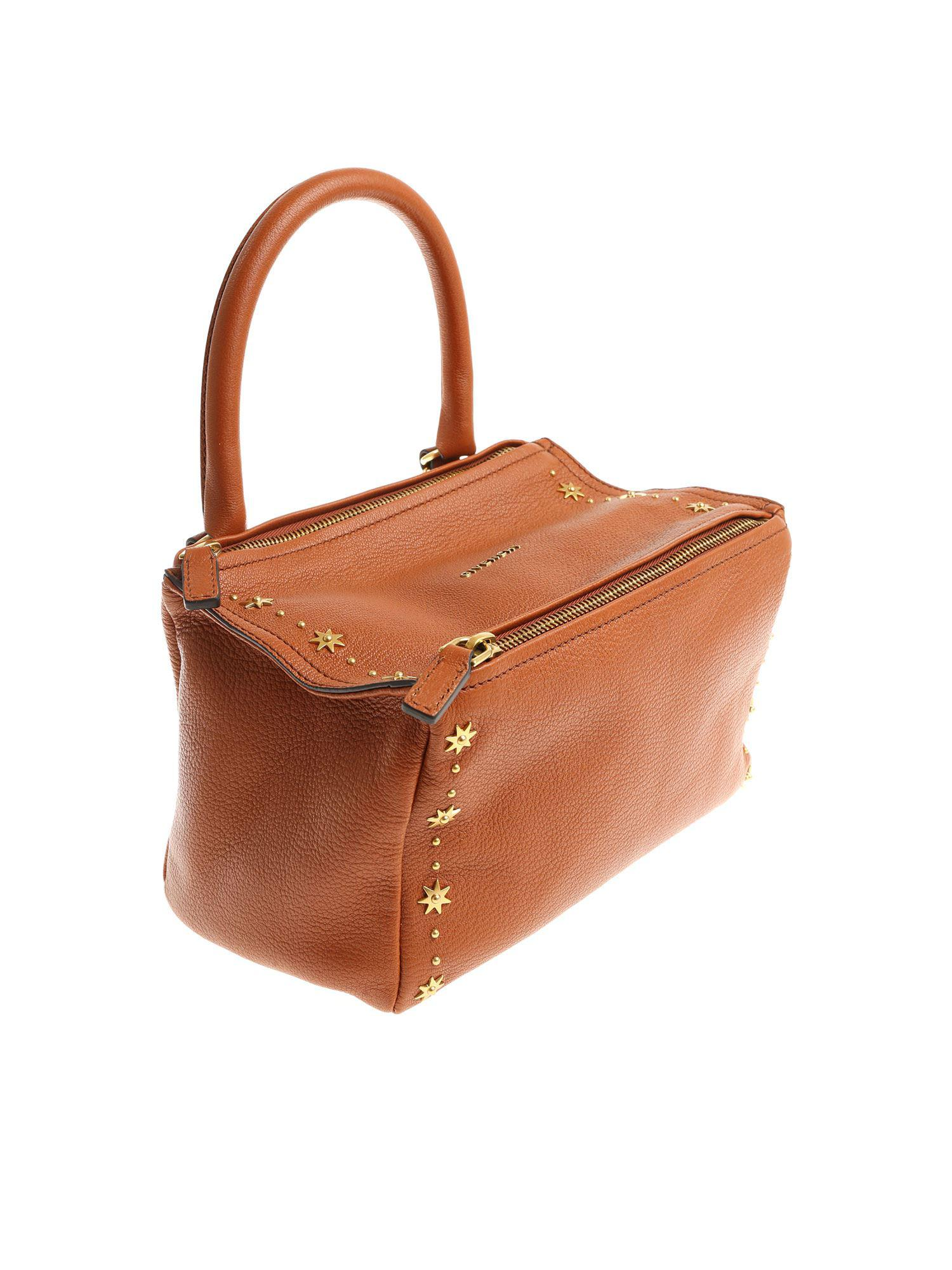 a939f16b7d Lyst - Givenchy Pandora Small Bag With Studs in Brown