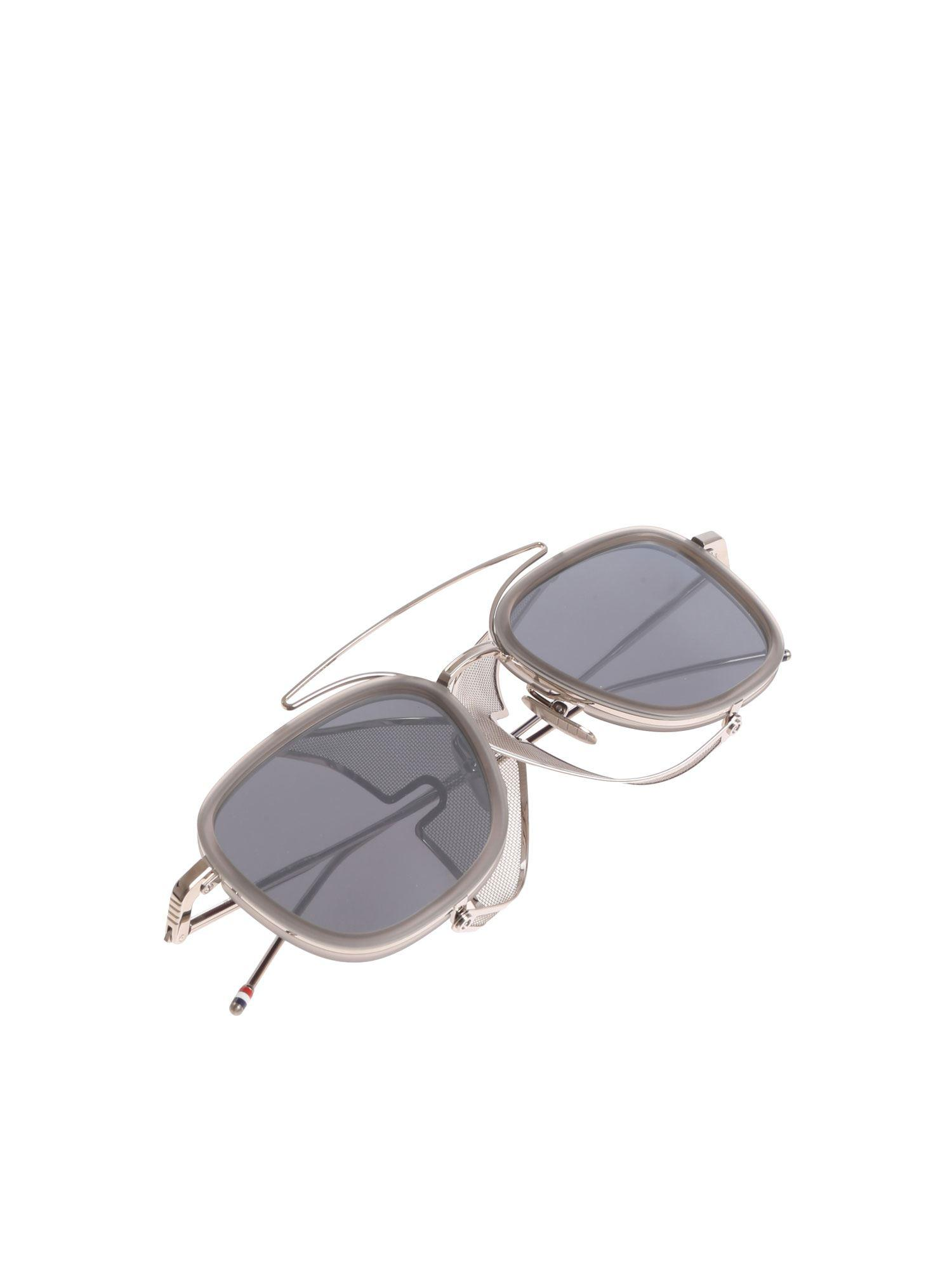 323cd3facdb Thom Browne - Gray Grey Sunglasses With Side Shields for Men - Lyst. View  fullscreen