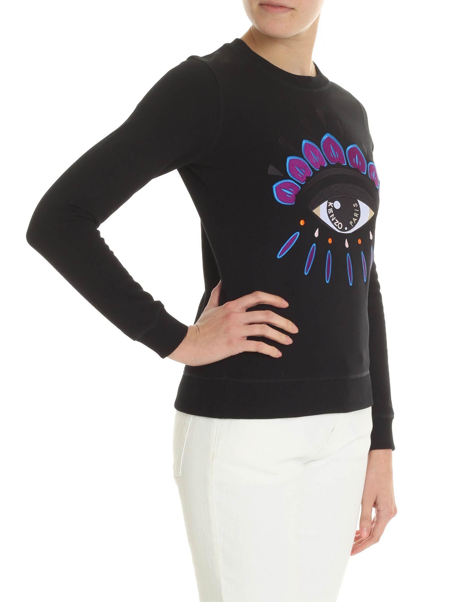 4cbaca57a Lyst - KENZO Black Embroidered Eye Classic Sweatshirt in Black