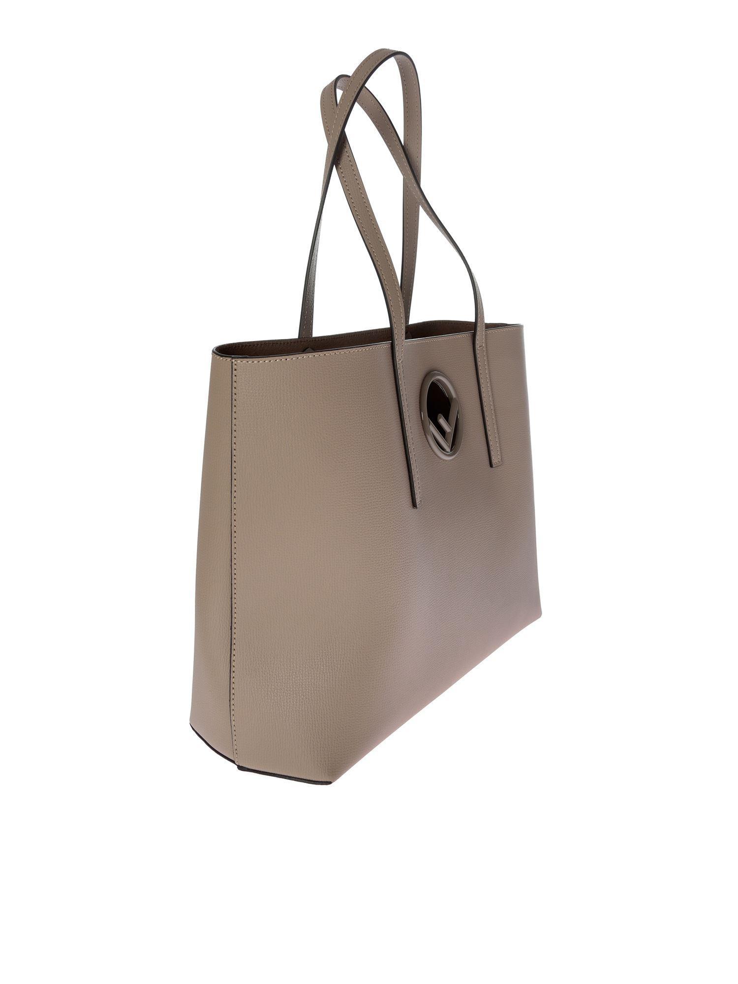 Fendi - Gray Dove Grey Leather Shopping Bag - Lyst. View fullscreen ec994dd728f3b