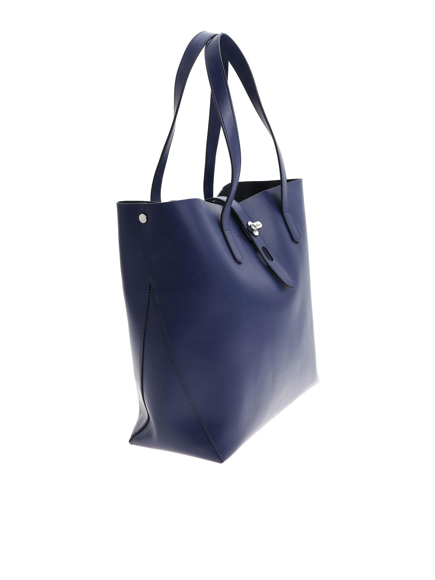 538e2058db Lyst - Hogan Dark Blue Shoulder Bag in Blue