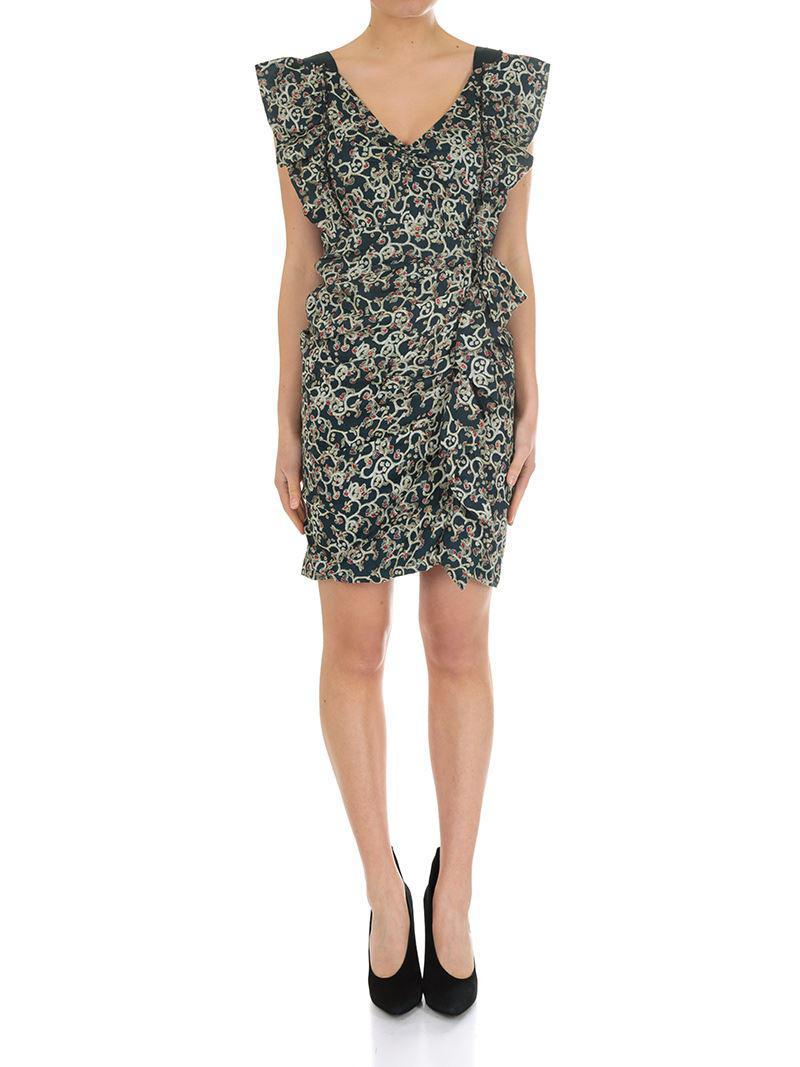 2018 Discount  2018 Unisex Sale Online Black Topaz dress with ruffles Isabel Marant Kh6kMLB