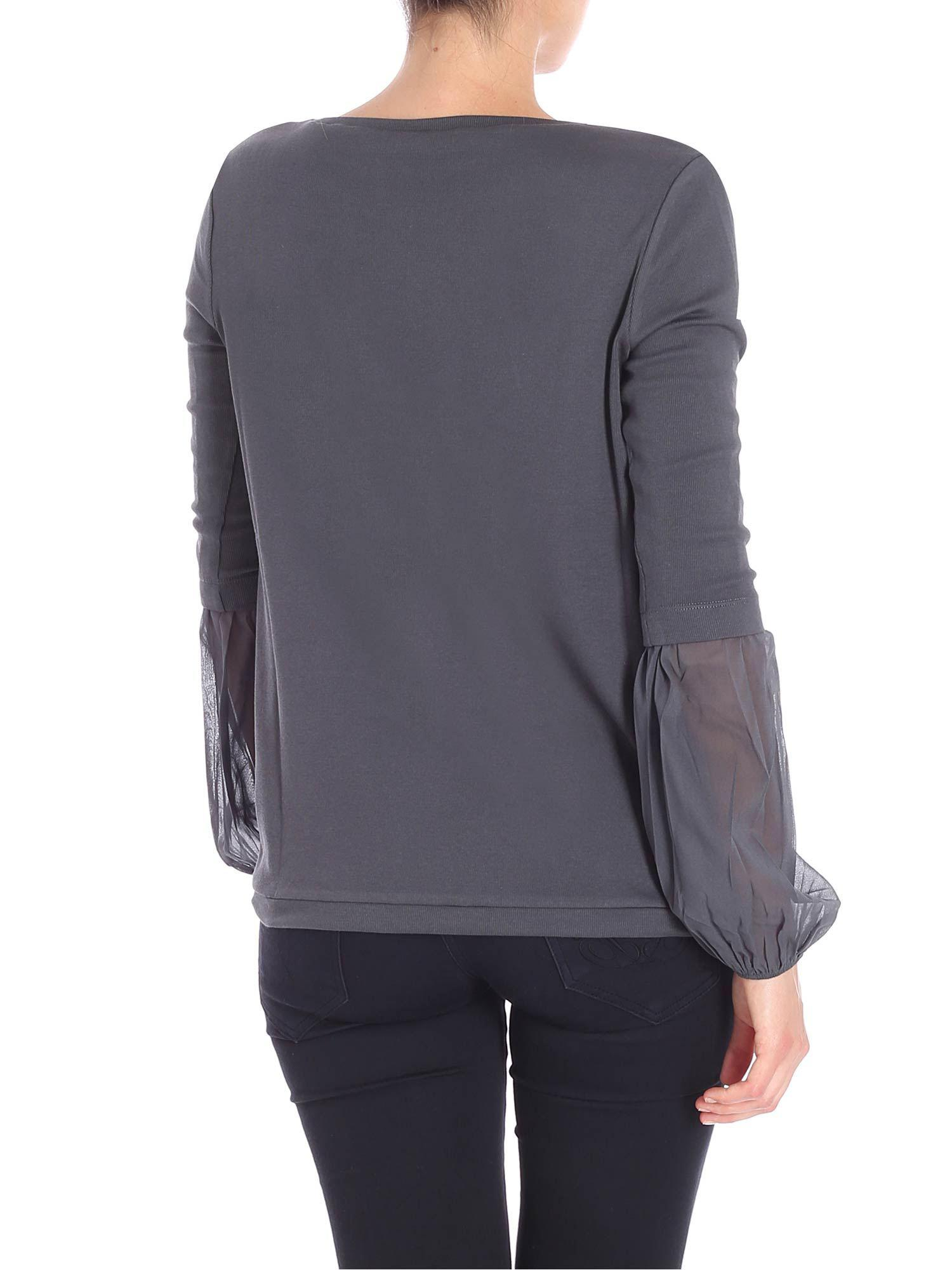 e0e694d9 fabiana-filippi-anthracite-Anthracite-Cotton-T-shirt-With-Silk-Sleeves.jpeg