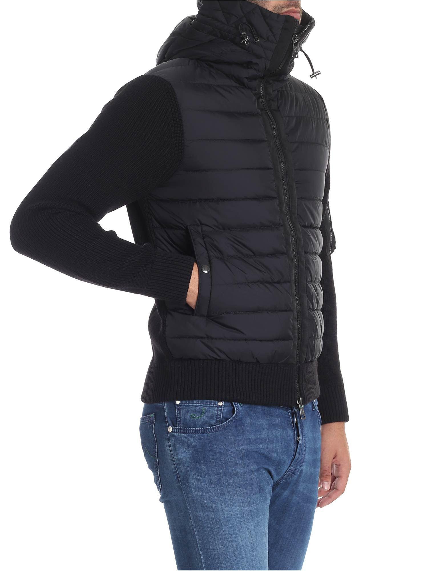 cddc2e29845e Moncler Quilted Front Cardigan in Black for Men - Save ...