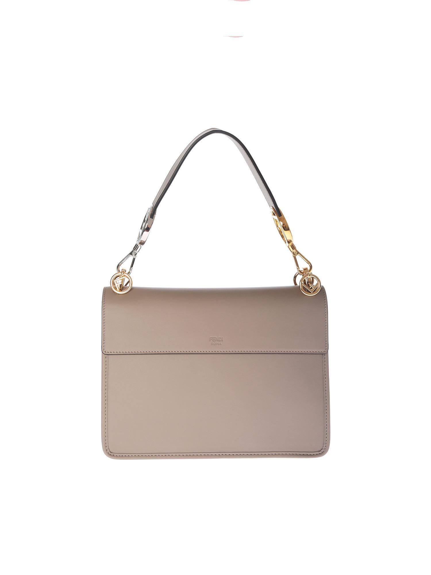 97cba22fbb Lyst - Fendi Taupe Color Kan I Bag