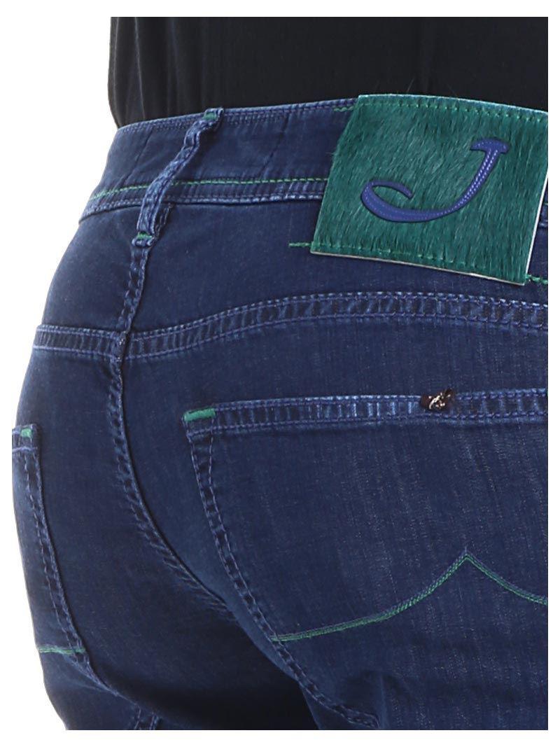 Blue 5-pocket jeans with green stitching Jacob Cohen vdvtBJzJNR