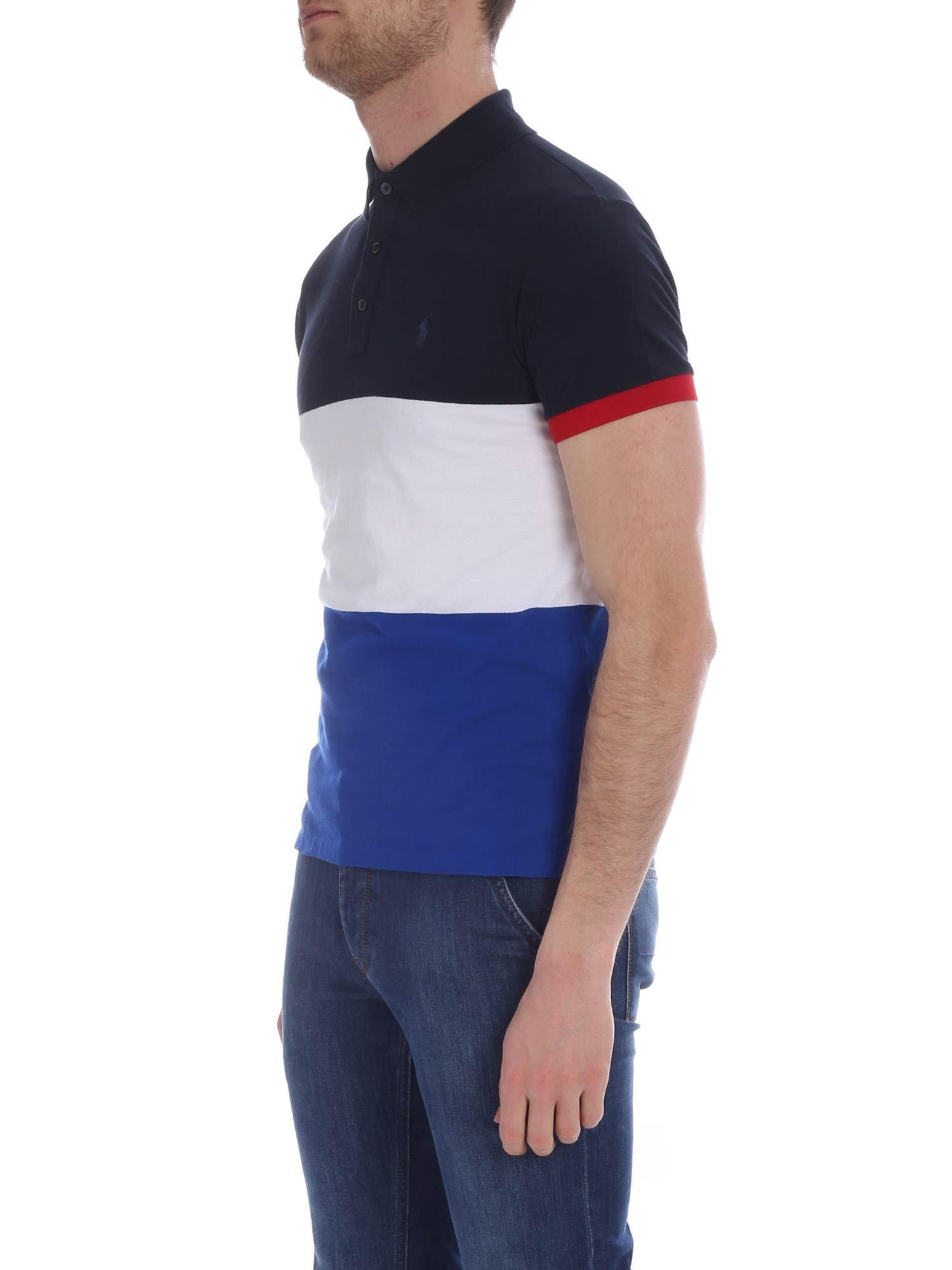 bcca5752 Lyst - Polo Ralph Lauren Blue, White And Blue Polo in Blue for Men
