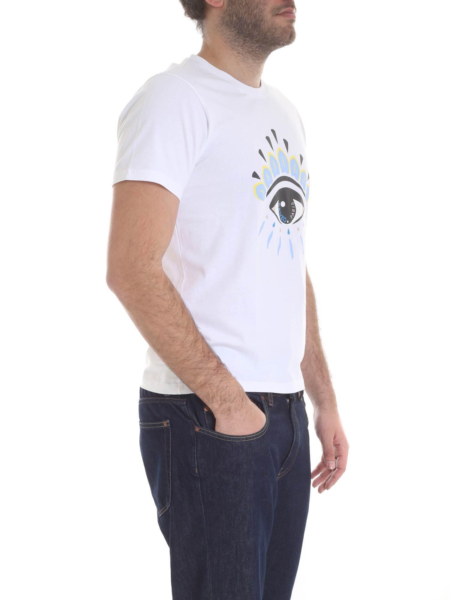cc8f6f8cf16 KENZO White Eye Icon T-shirt in White for Men - Save 39% - Lyst